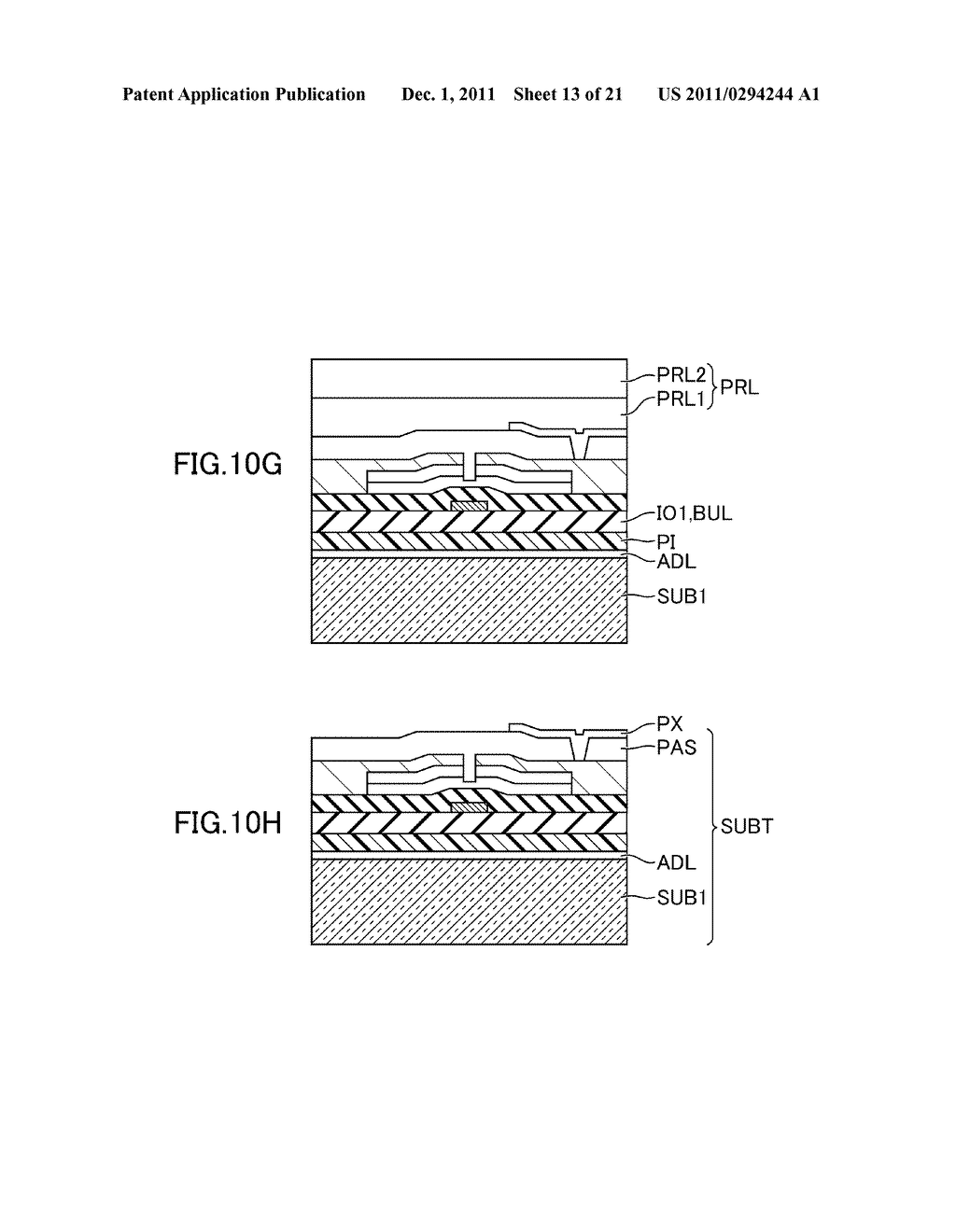 METHOD FOR MANUFACTURING DISPLAY DEVICE - diagram, schematic, and image 14