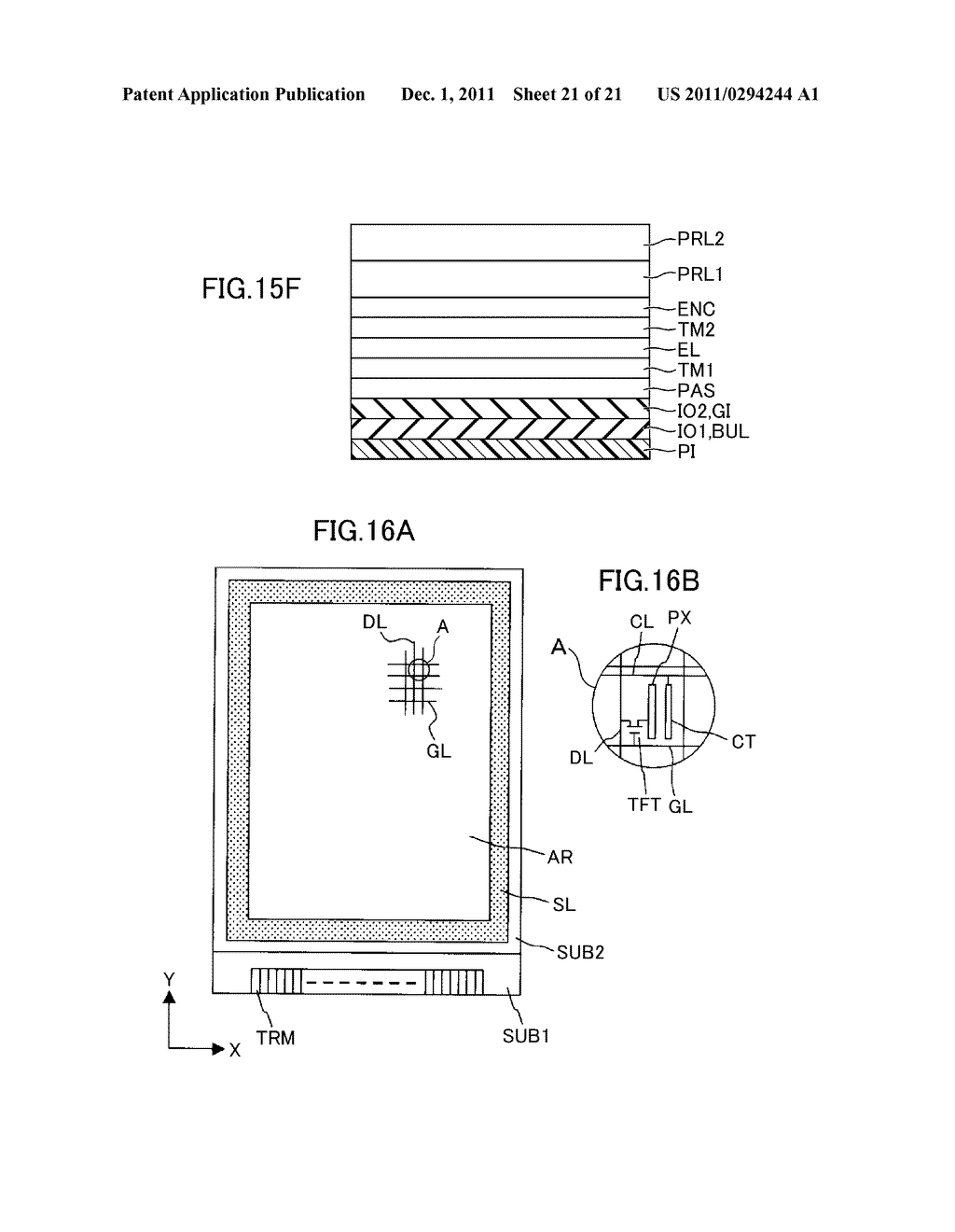 METHOD FOR MANUFACTURING DISPLAY DEVICE - diagram, schematic, and image 22