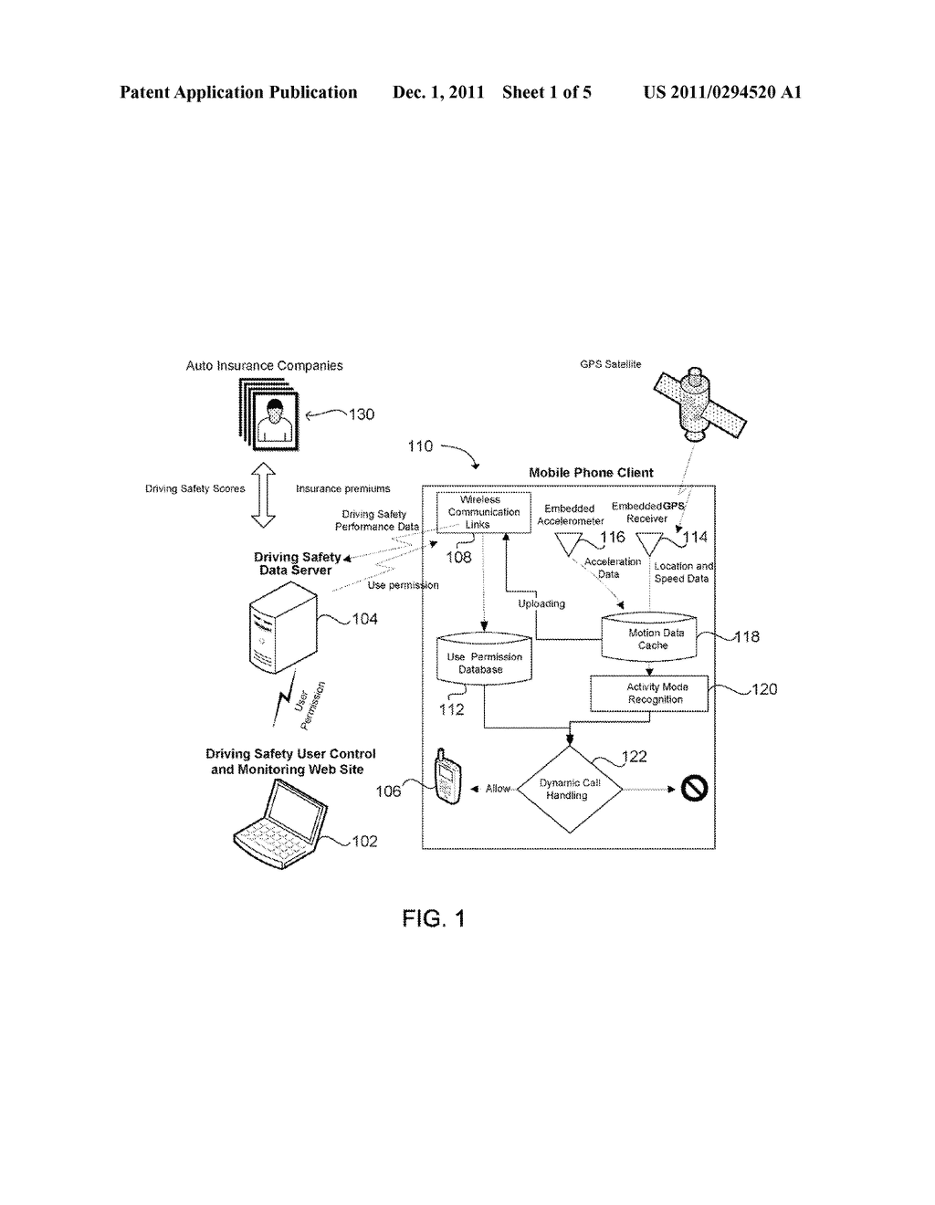 System and Method for Preventing Cell Phone Use While Driving - diagram, schematic, and image 02