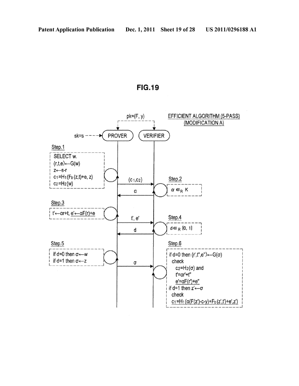 AUTHENTICATION DEVICE, AUTHENTICATION METHOD, PROGRAM, AND SIGNATURE     GENERATION DEVICE - diagram, schematic, and image 20