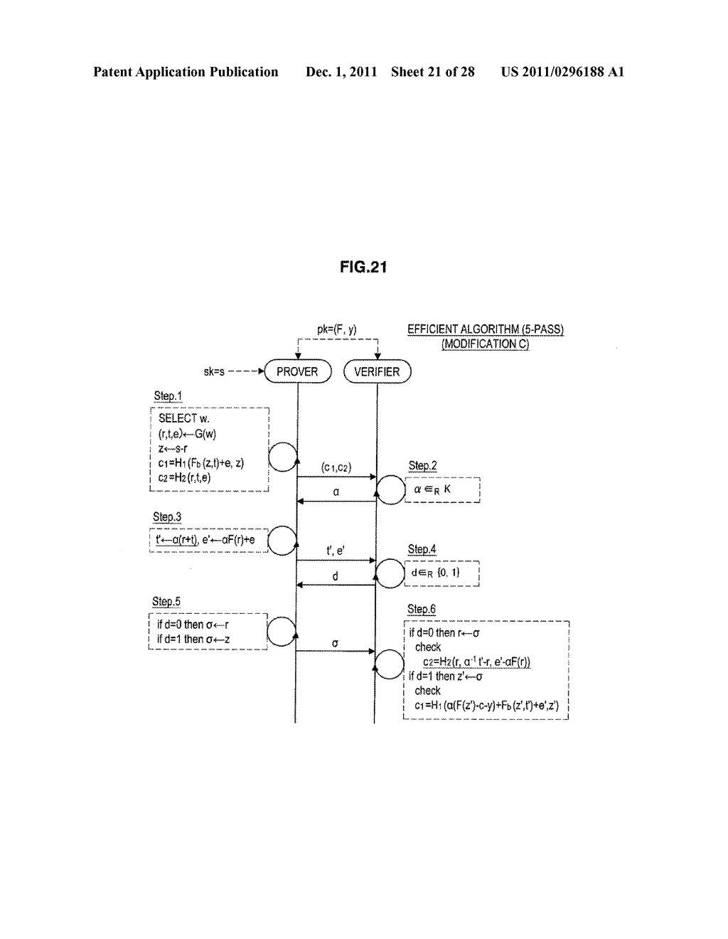 AUTHENTICATION DEVICE, AUTHENTICATION METHOD, PROGRAM, AND SIGNATURE     GENERATION DEVICE - diagram, schematic, and image 22