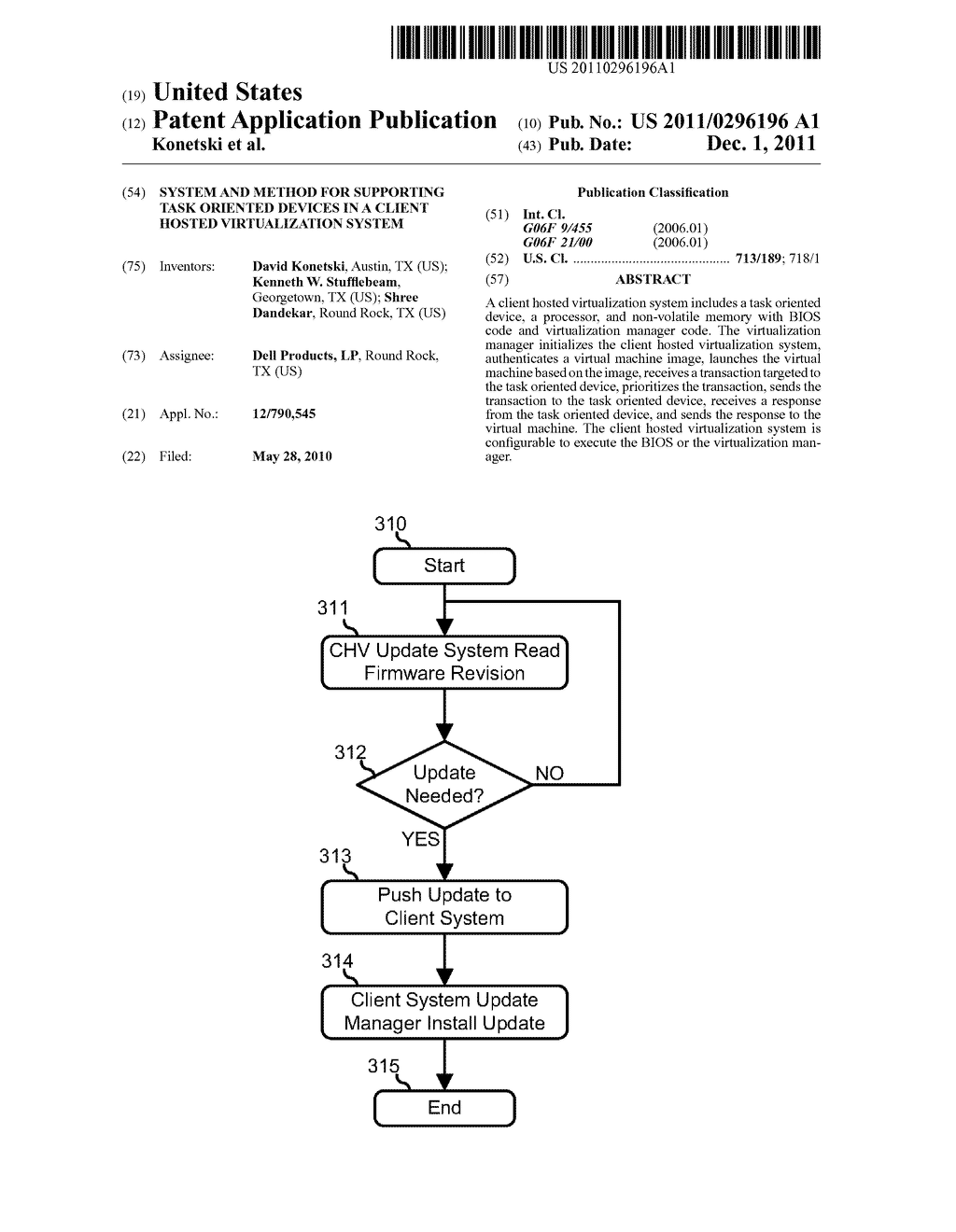 System and Method for Supporting Task Oriented Devices in a Client Hosted     Virtualization System - diagram, schematic, and image 01