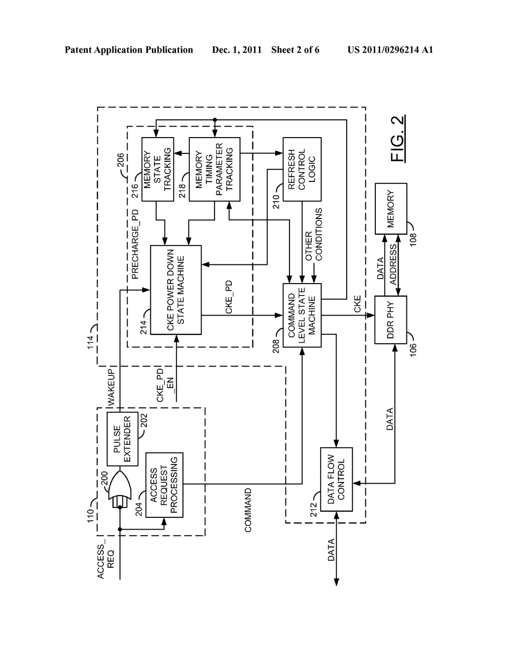 POWER SAVINGS AND/OR DYNAMIC POWER MANAGEMENT IN A MEMORY - diagram, schematic, and image 03