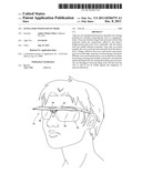 Sunglasses with flip-up visor diagram and image