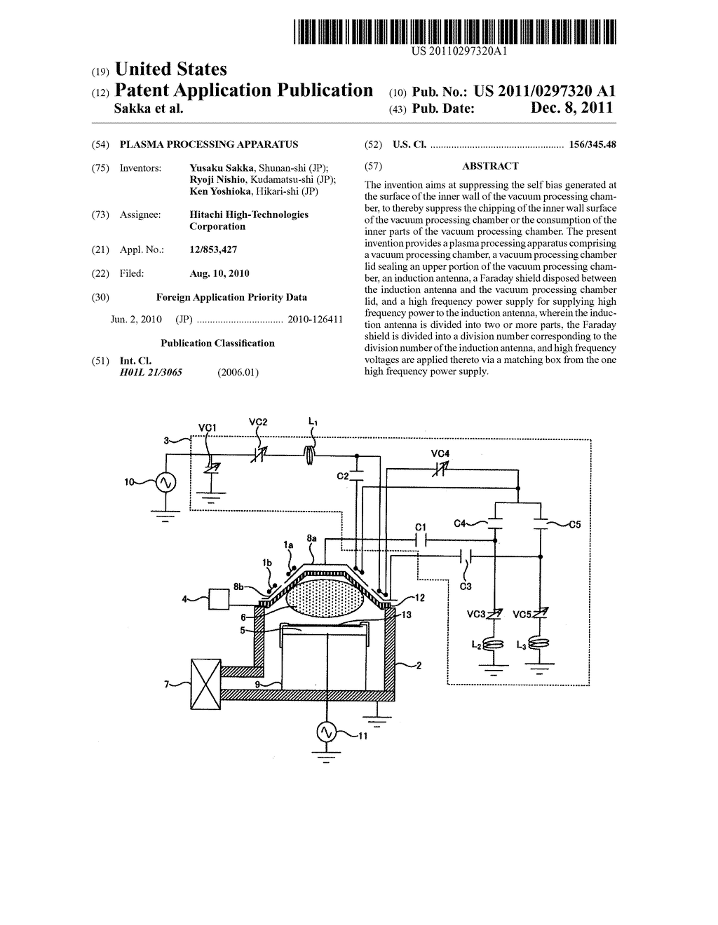 PLASMA PROCESSING APPARATUS - diagram, schematic, and image 01