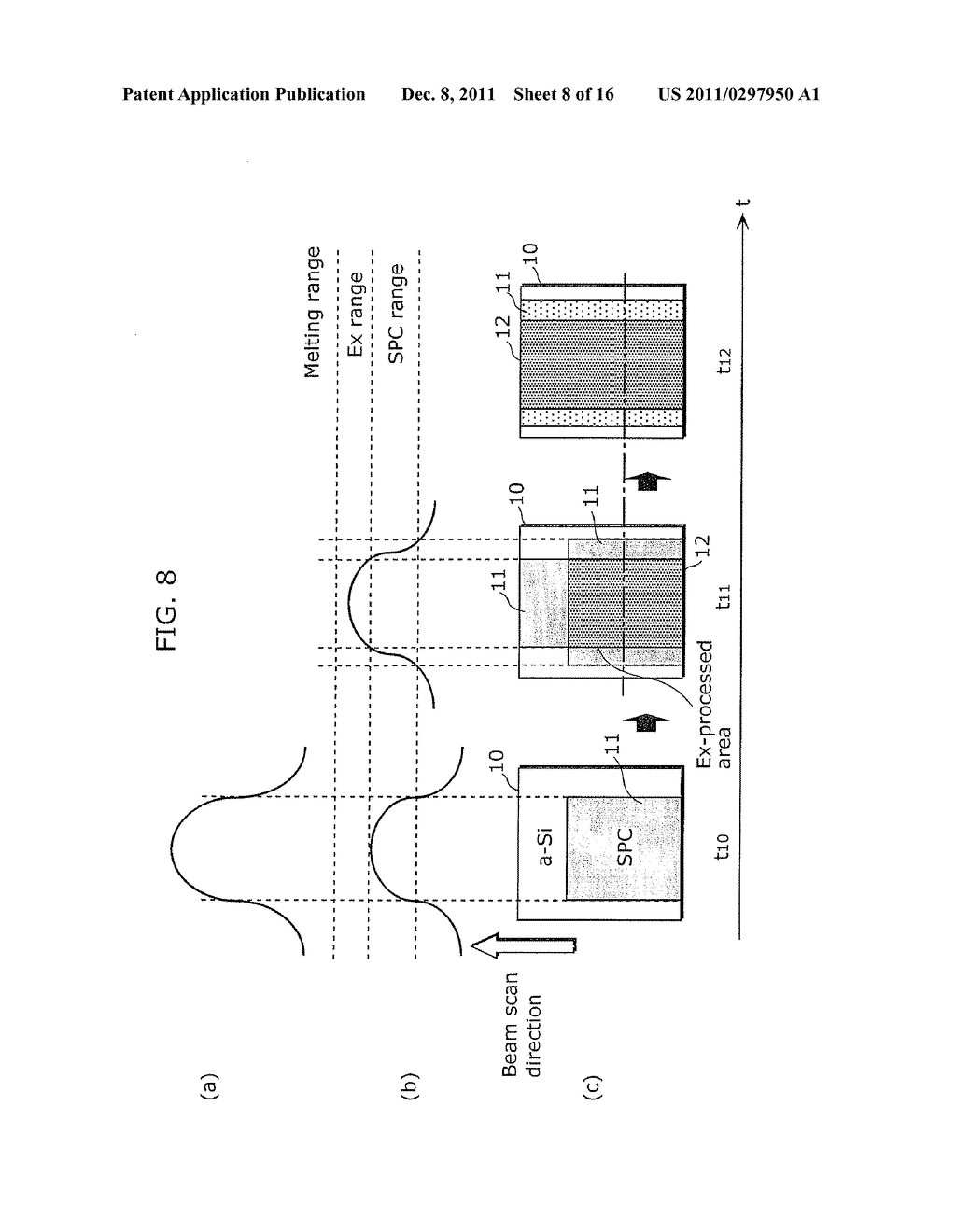 CRYSTALLINE SEMICONDUCTOR FILM MANUFACTURING METHOD, SUBSTRATE COATED WITH     CRYSTALLINE SEMICONDUCTOR FILM, AND THIN-FILM TRANSISTOR - diagram, schematic, and image 09