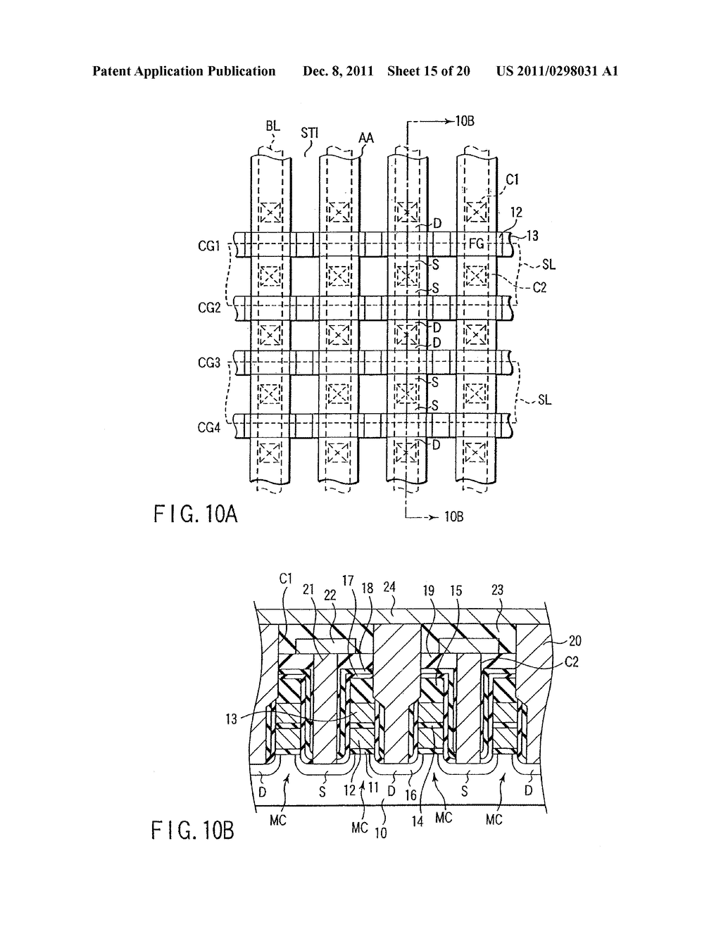 SEMICONDUCTOR MEMORY DEVICE INCLUDING MULTI-LAYER GATE STRUCTURE - diagram, schematic, and image 16