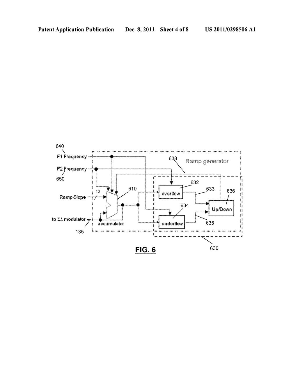 INTEGRATED CIRCUIT COMPRISING FREQUENCY GENERATION CIRCUITRY FOR     CONTROLLING A FREQUENCY SOURCE - diagram, schematic, and image 05