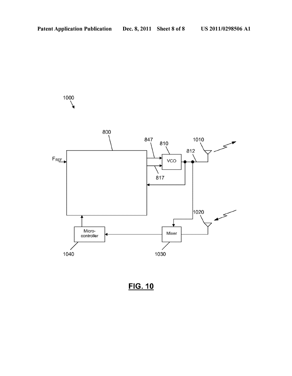 INTEGRATED CIRCUIT COMPRISING FREQUENCY GENERATION CIRCUITRY FOR     CONTROLLING A FREQUENCY SOURCE - diagram, schematic, and image 09