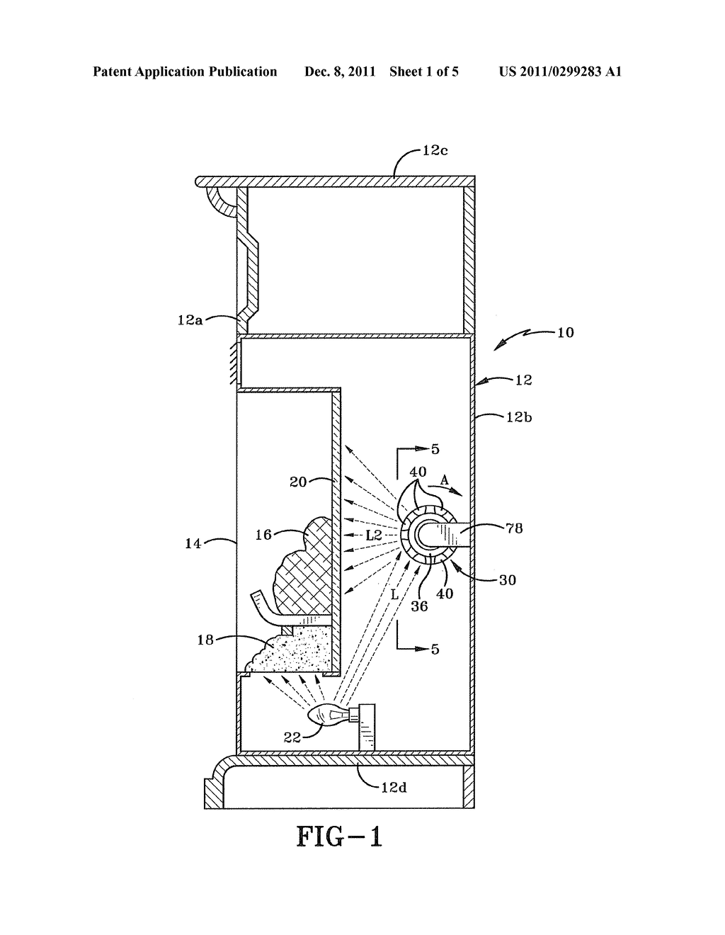REFLECTIVE DEVICE FOR AN ELECTRIC FIREPLACE AND AN ELECTRIC FIREPLACE     INCORPORATING THE SAME - diagram, schematic, and image 02