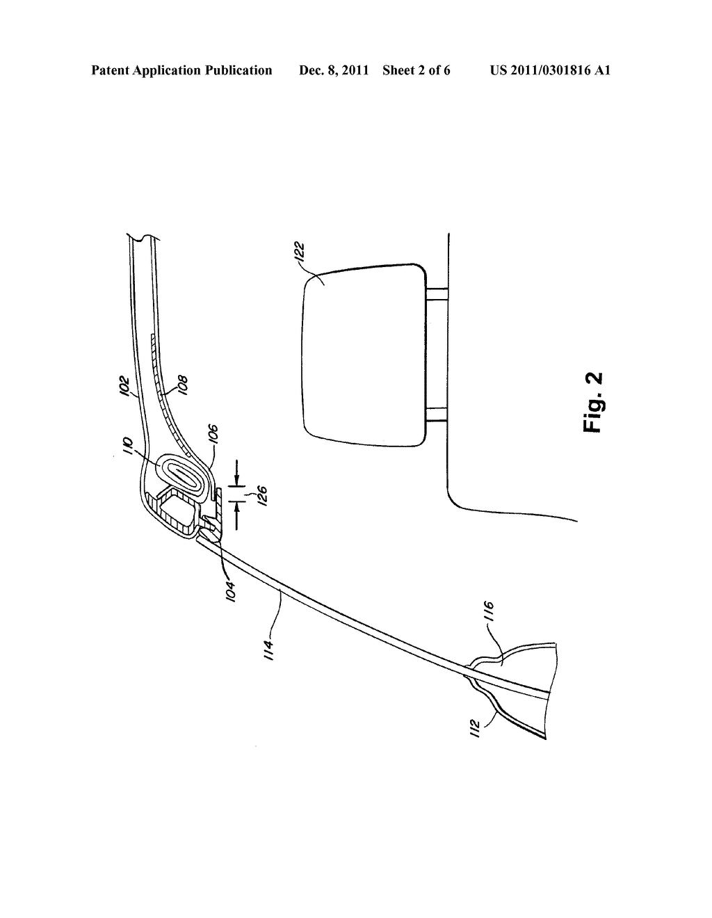 METHOD AND SYSTEM FOR IMPROVING CURTAIN AIR BAG DEPLOYMENT USING AN     ACTUATOR ATTACHED TO A HEADLINER - diagram, schematic, and image 03