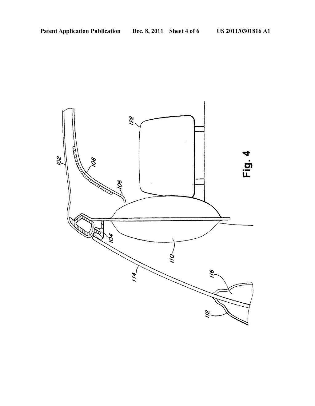 METHOD AND SYSTEM FOR IMPROVING CURTAIN AIR BAG DEPLOYMENT USING AN     ACTUATOR ATTACHED TO A HEADLINER - diagram, schematic, and image 05