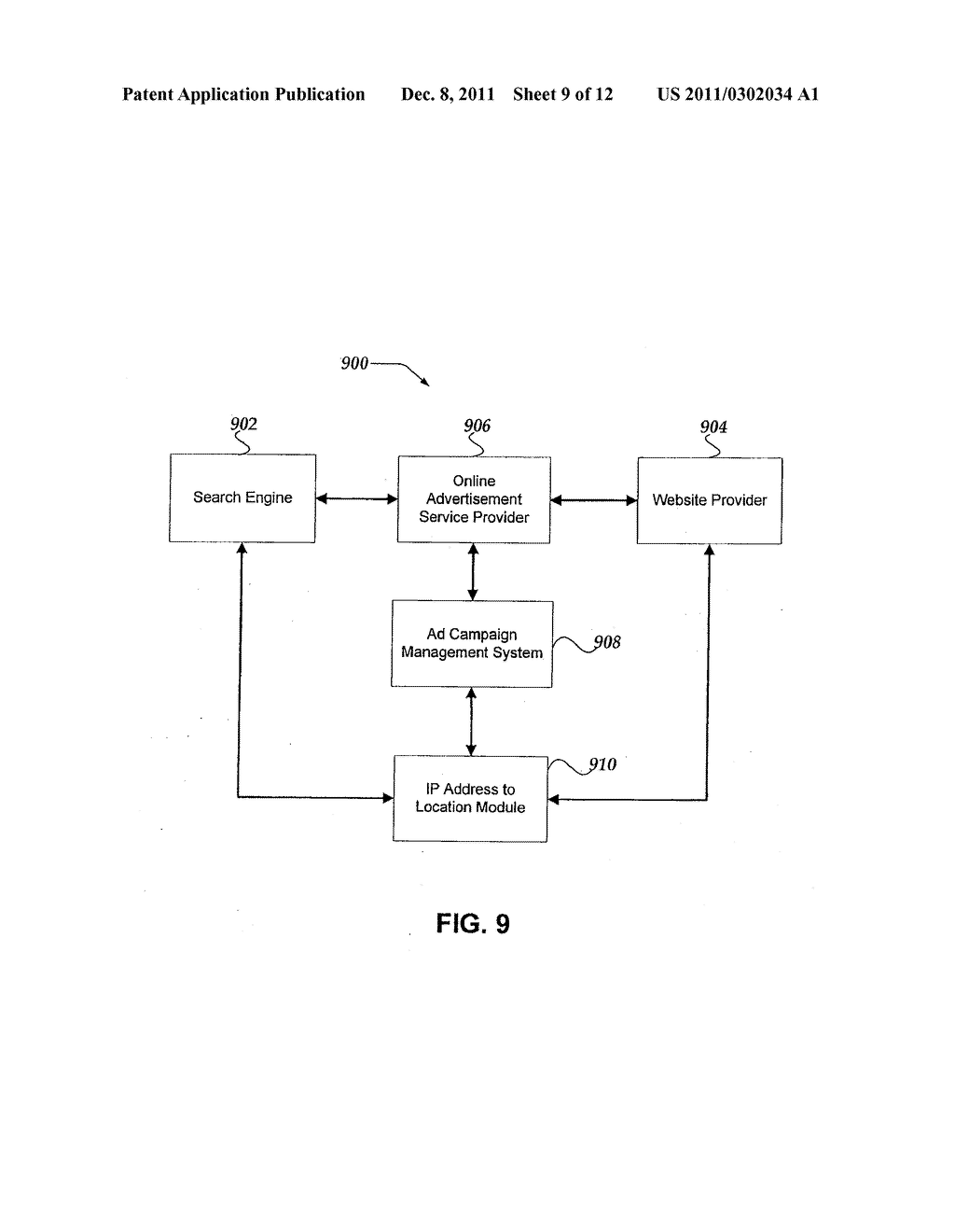 System and Method for Associating a Geographical Location with an Internet     Protocol Addresss - diagram, schematic, and image 10