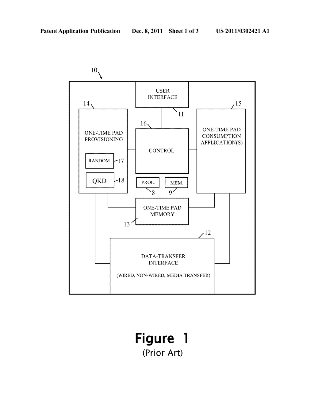Authentication Method And Apparatus Using One Time Pads - diagram, schematic, and image 02