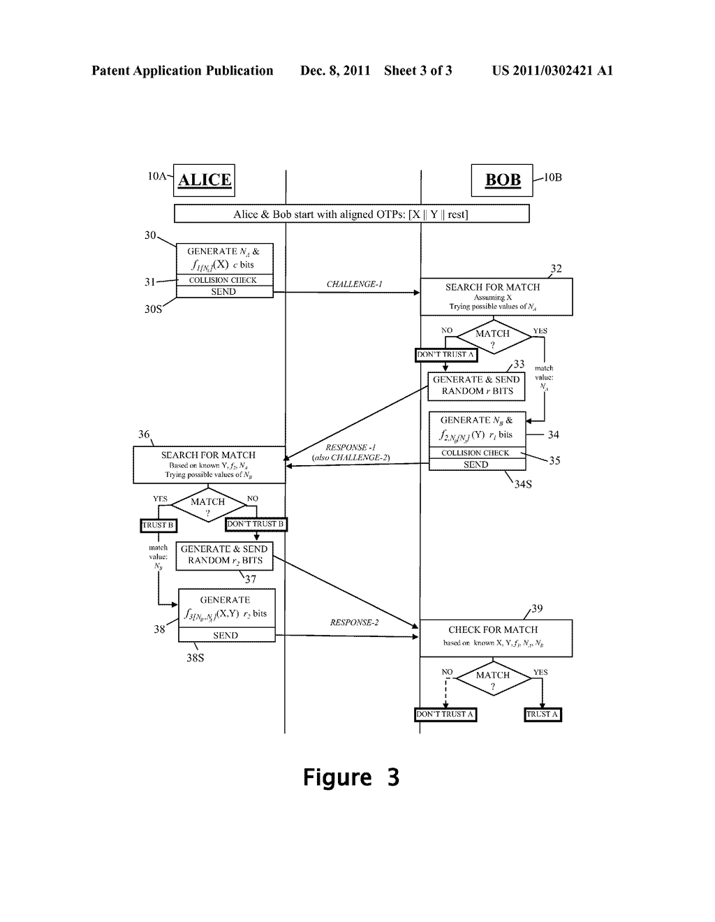 Authentication Method And Apparatus Using One Time Pads - diagram, schematic, and image 04