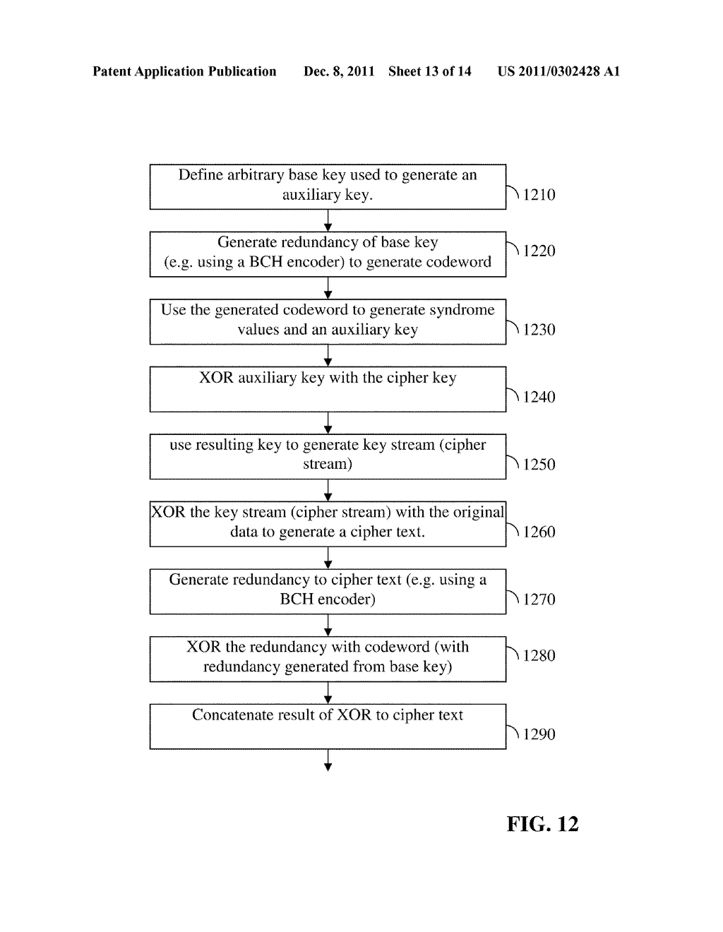 METHOD, SYSTEM AND MEDIUM FOR ANALOG ENCRYPTION IN A FLASH MEMORY - diagram, schematic, and image 14