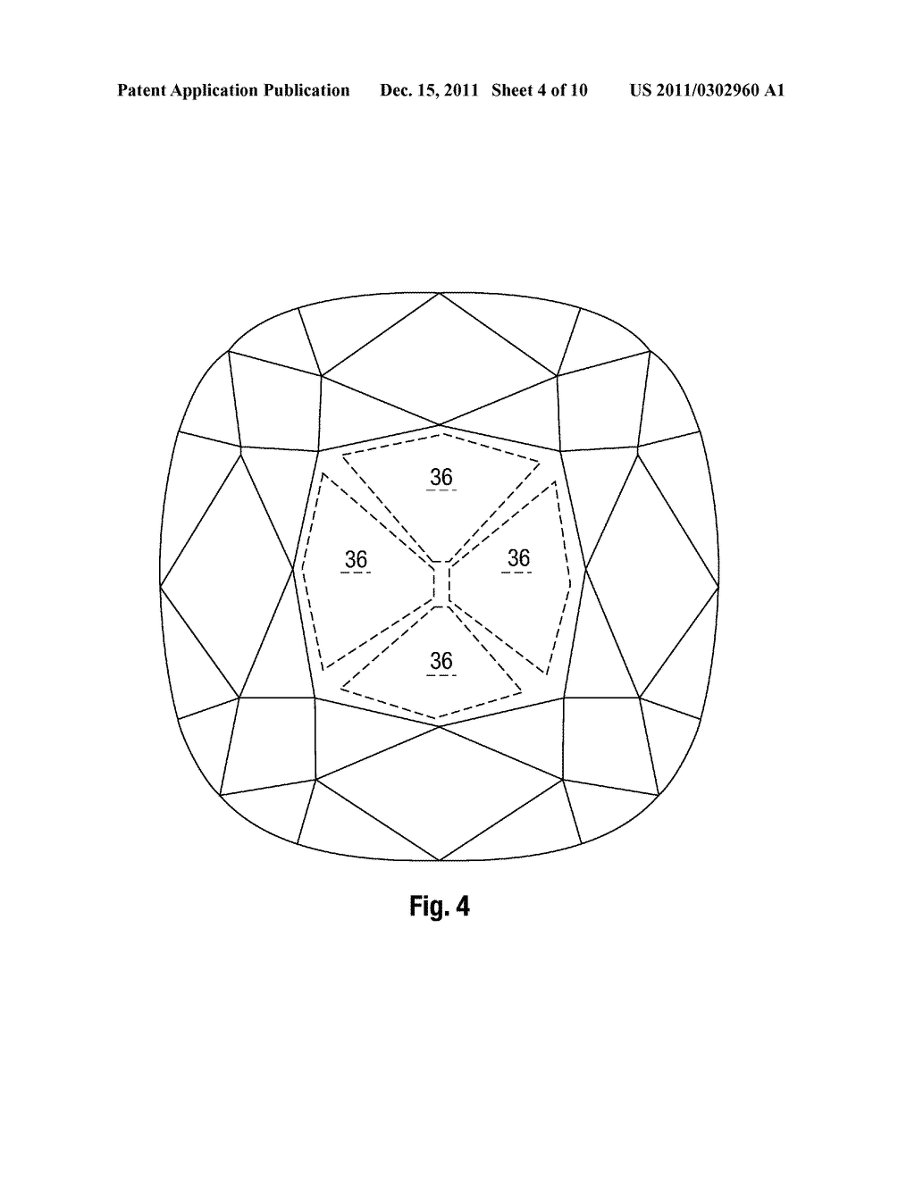 gemstone cut shape providing a specific optical pattern - diagram, schematic,  and image 05