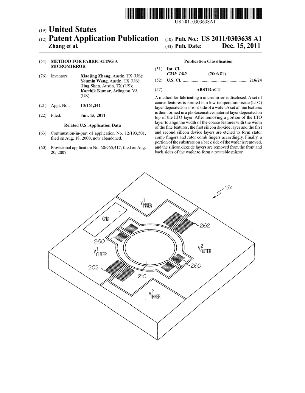 Method for Fabricating a Micromirror - diagram, schematic, and image 01