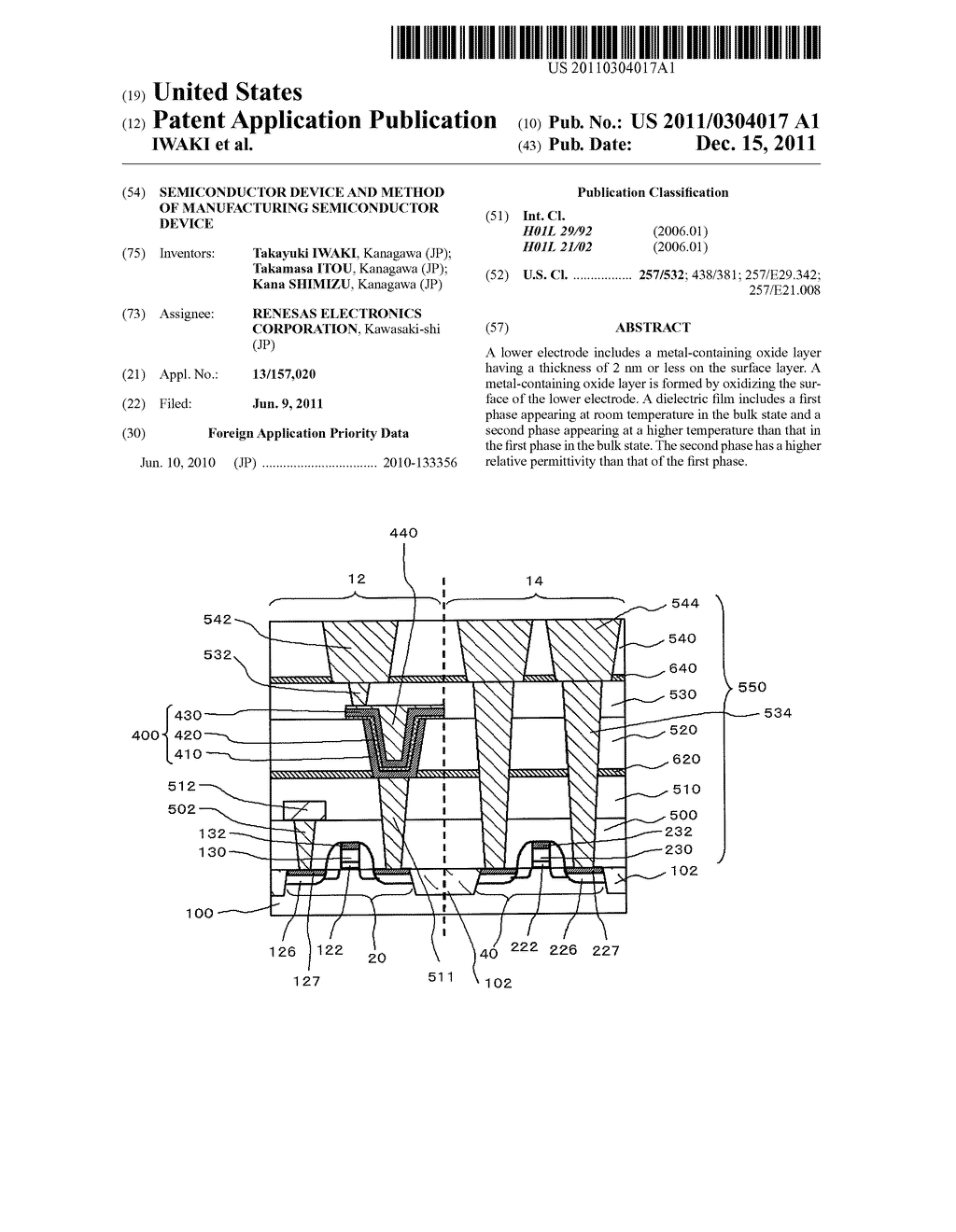 SEMICONDUCTOR DEVICE AND METHOD OF MANUFACTURING SEMICONDUCTOR DEVICE - diagram, schematic, and image 01