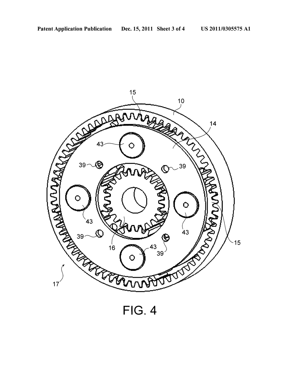 DEVICE WITH COUNTER-ROTATING PROPELLERS HAVING A PROPELLER PITCH
