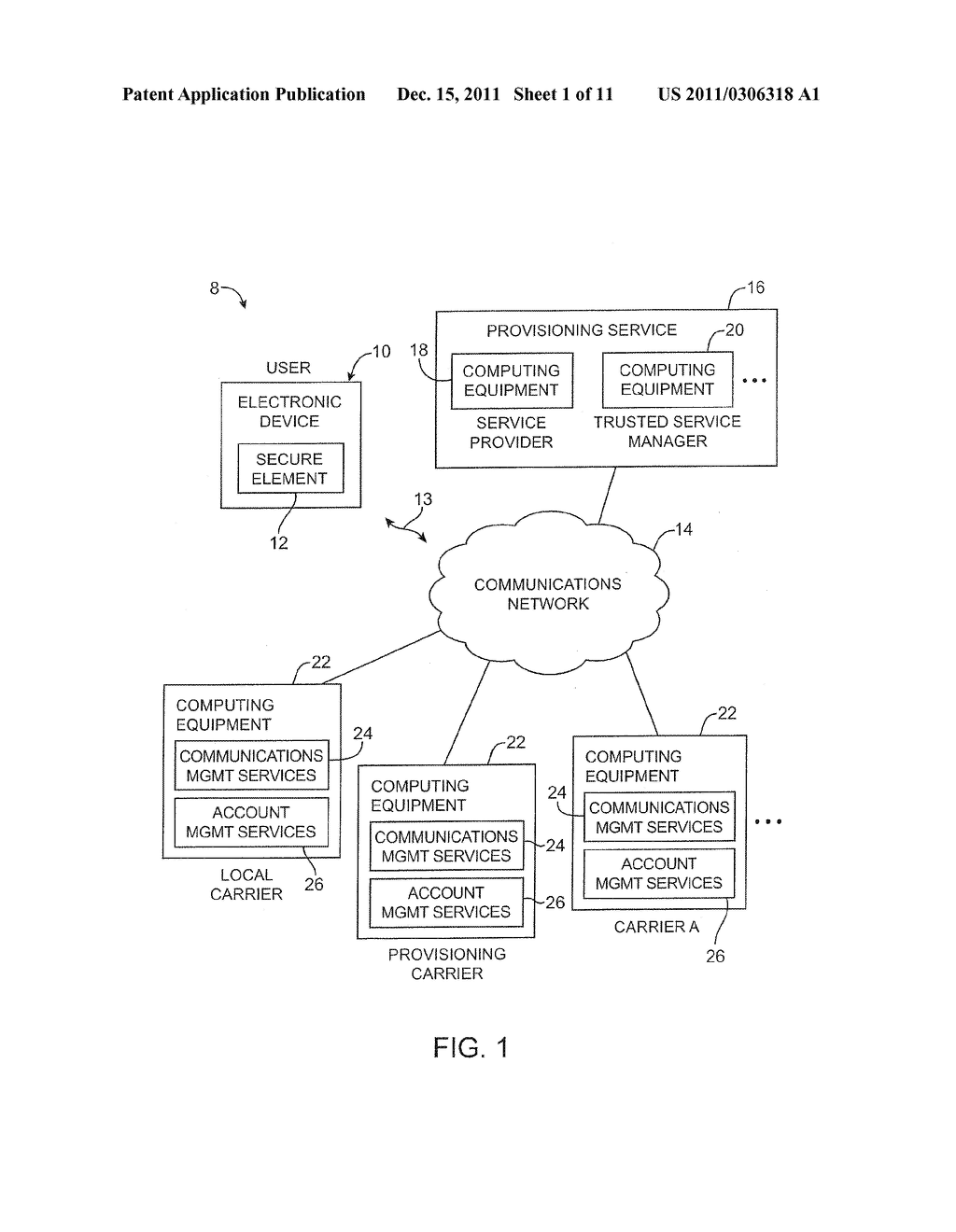 APPARATUS AND METHODS FOR PROVISIONING SUBSCRIBER IDENTITY DATA IN A     WIRELESS NETWORK - diagram, schematic, and image 02