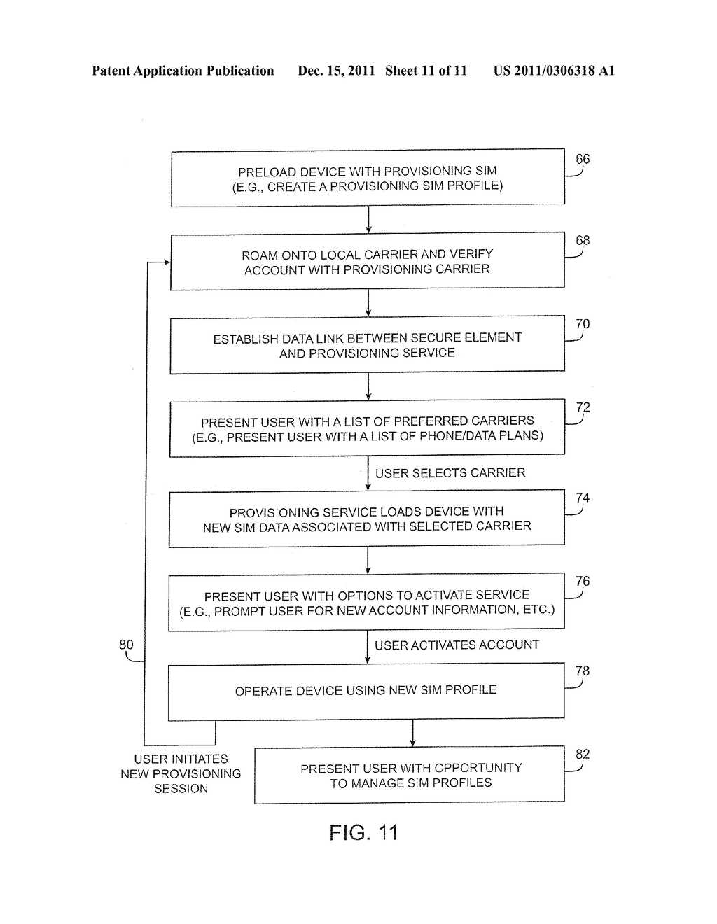 APPARATUS AND METHODS FOR PROVISIONING SUBSCRIBER IDENTITY DATA IN A     WIRELESS NETWORK - diagram, schematic, and image 12