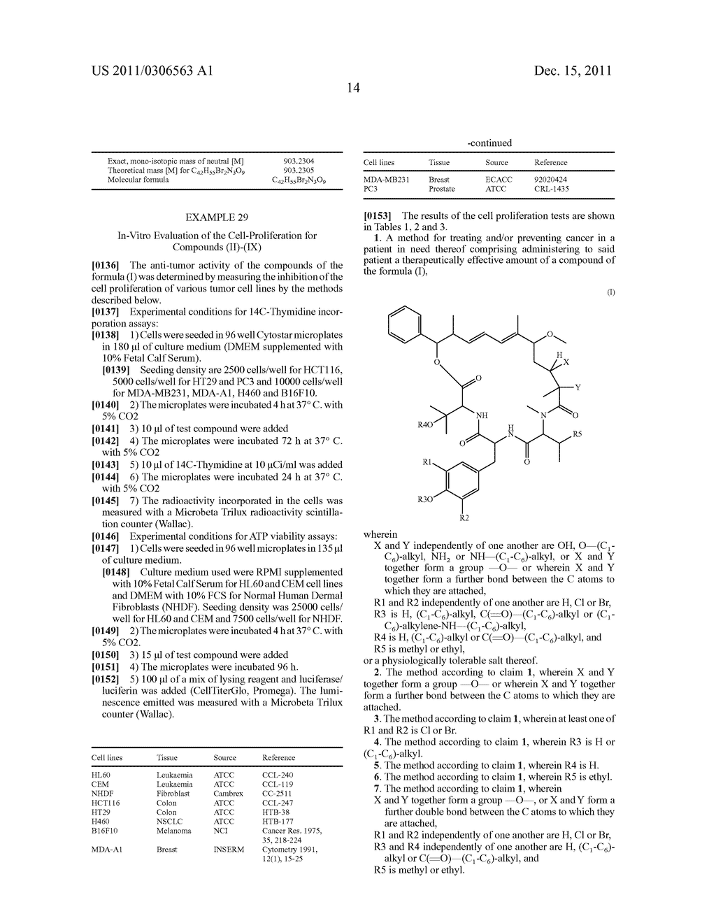 MACROLACTONE DERIVATIVES, METHOD FOR THE PRODUCTION THEREOF AND USE     THEREOF FOR THE TREATMENT OF CANCER - diagram, schematic, and image 15