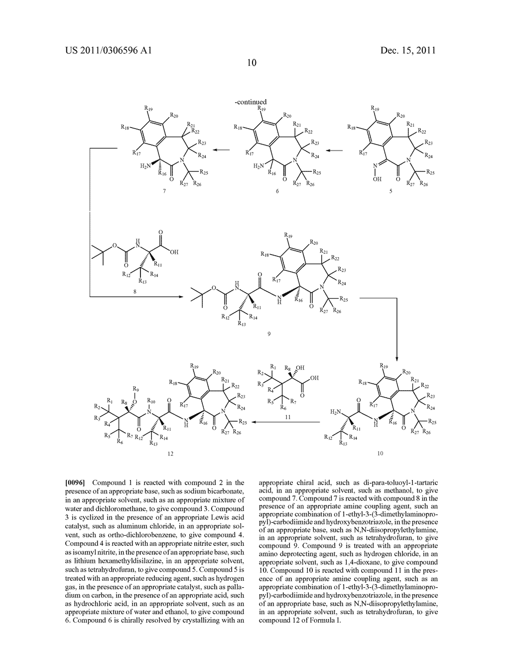 BENZAZEPINE INHIBITORS OF GAMMA-SECRETASE - diagram, schematic, and image 11
