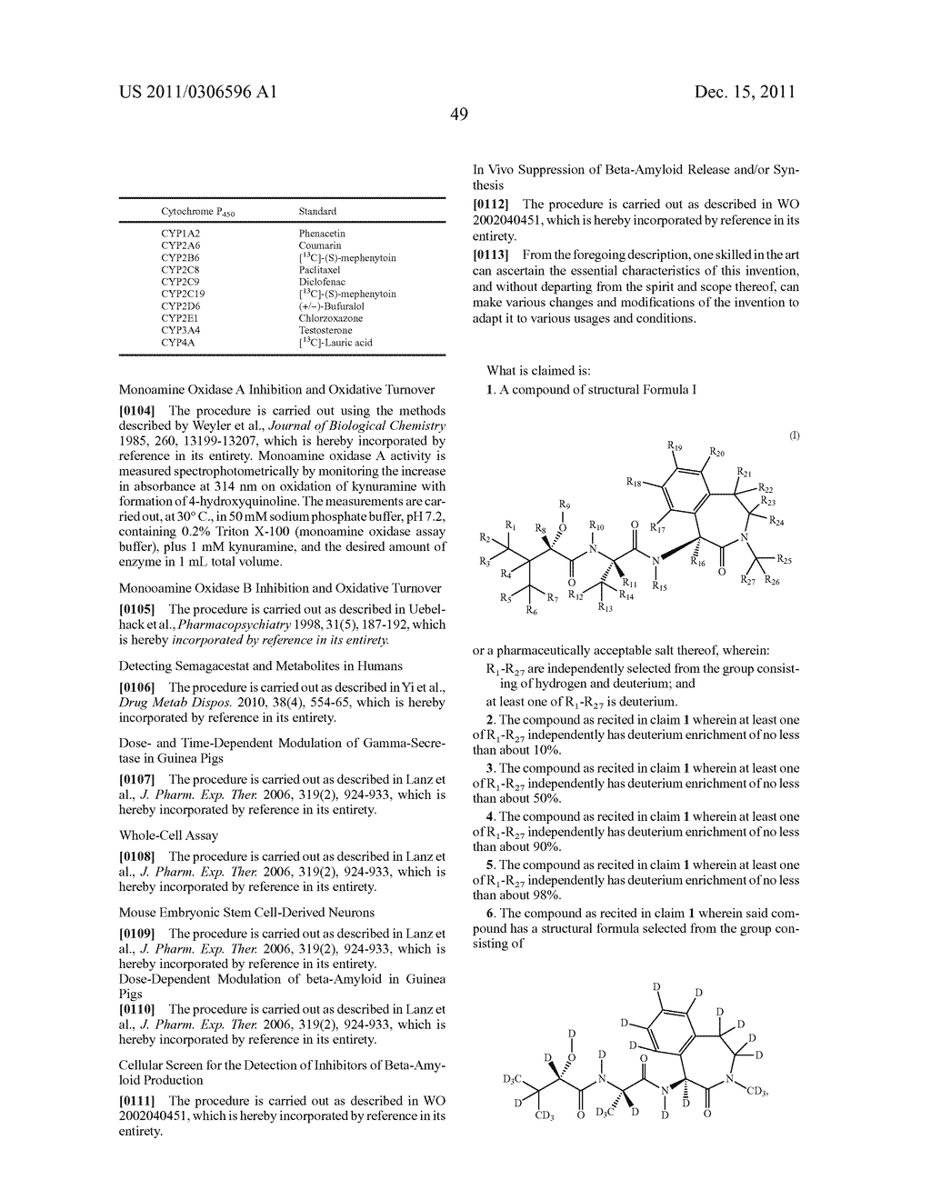 BENZAZEPINE INHIBITORS OF GAMMA-SECRETASE - diagram, schematic, and image 50