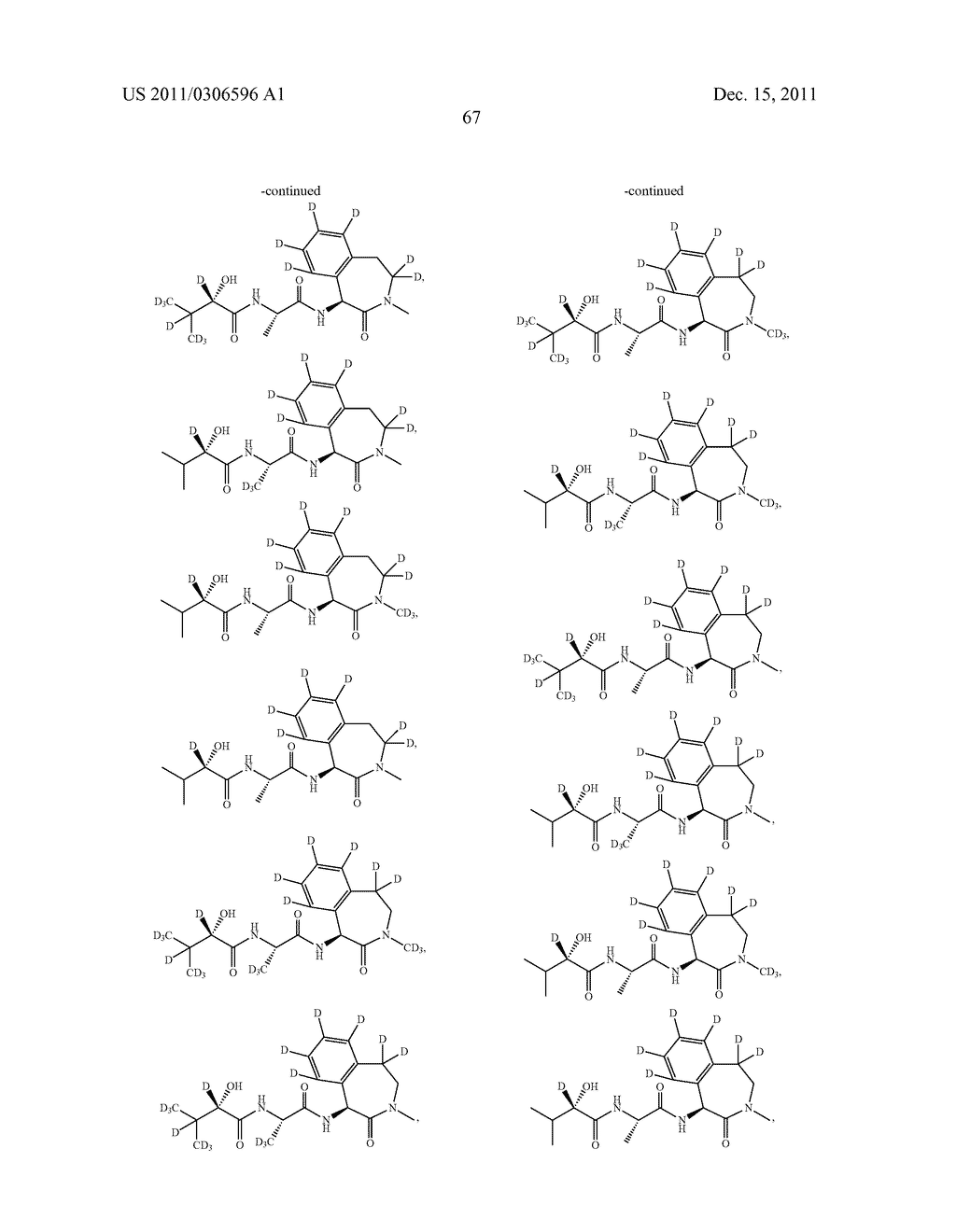 BENZAZEPINE INHIBITORS OF GAMMA-SECRETASE - diagram, schematic, and image 68