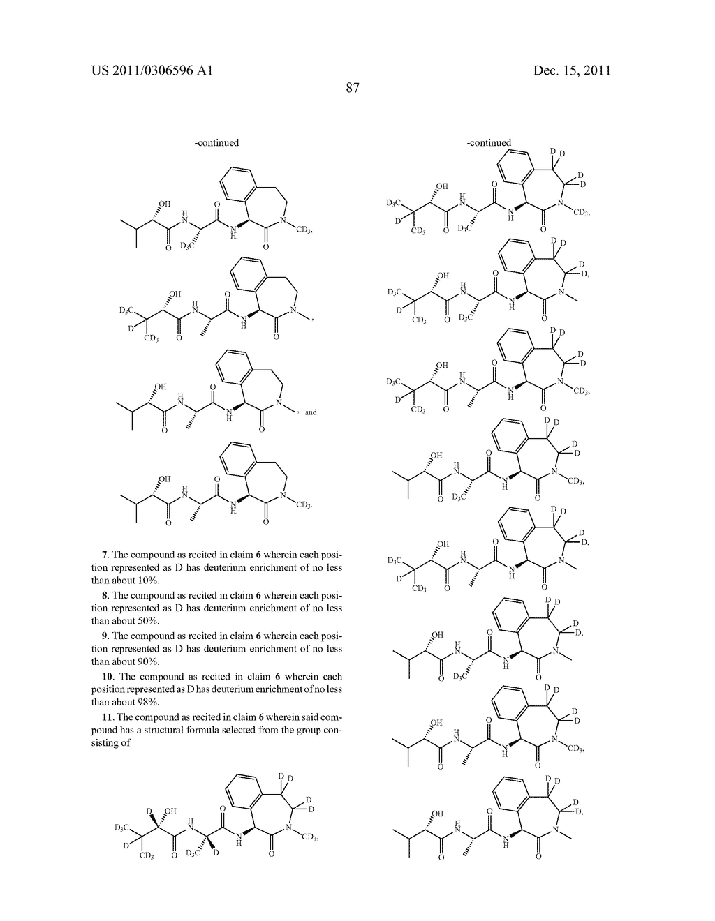 BENZAZEPINE INHIBITORS OF GAMMA-SECRETASE - diagram, schematic, and image 88