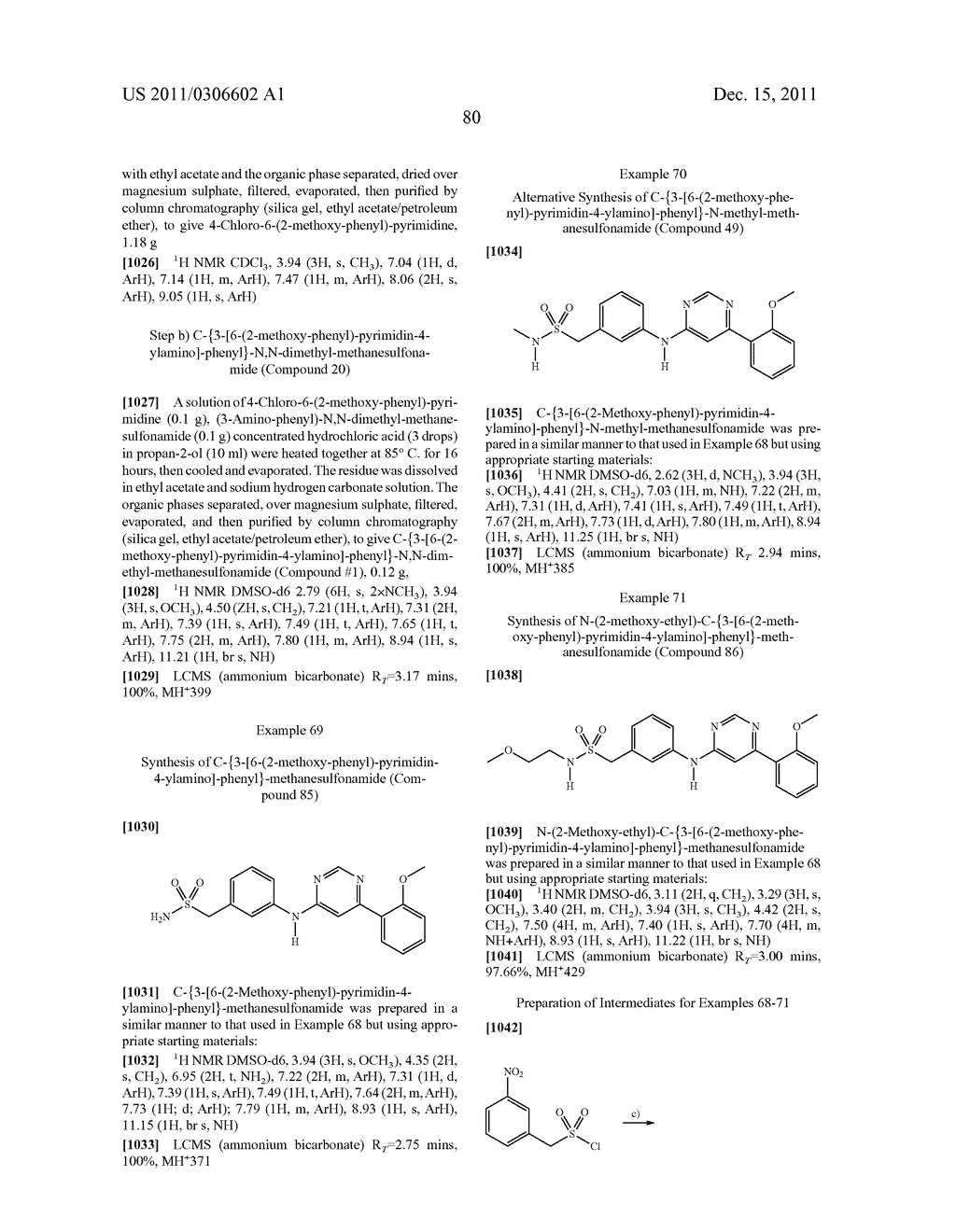4, 6-DISUBSTITUTED AMINOPYRIMIDINE DERIVATIVES AS INHIBITORS OF PROTEIN     KINASES - diagram, schematic, and image 86