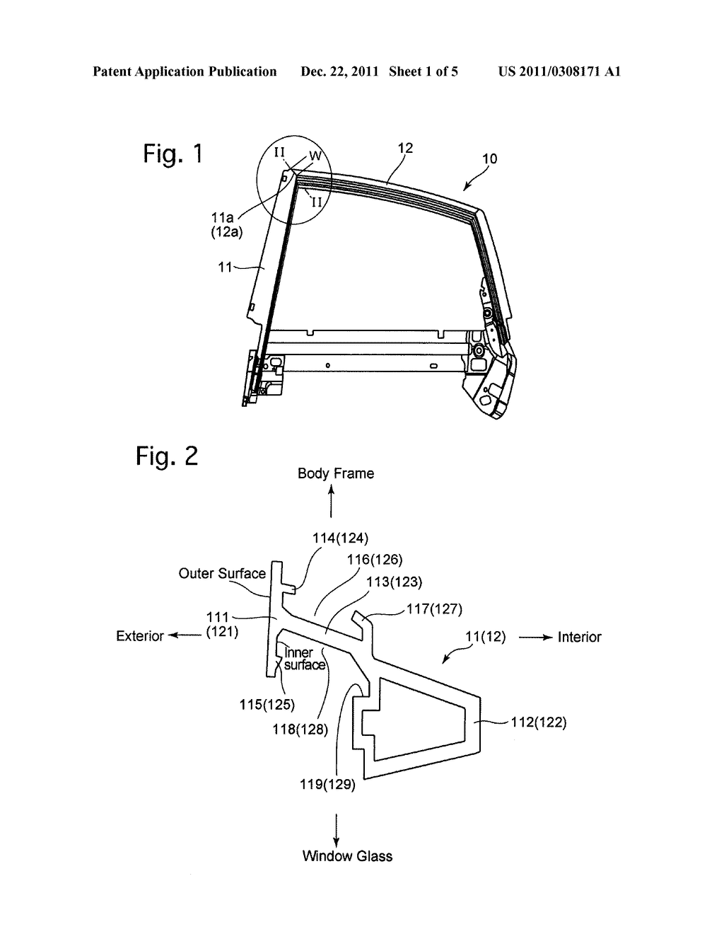 VEHICLE DOOR FRAME AND METHOD OF PRODUCING THE SAME - diagram, schematic, and image 02