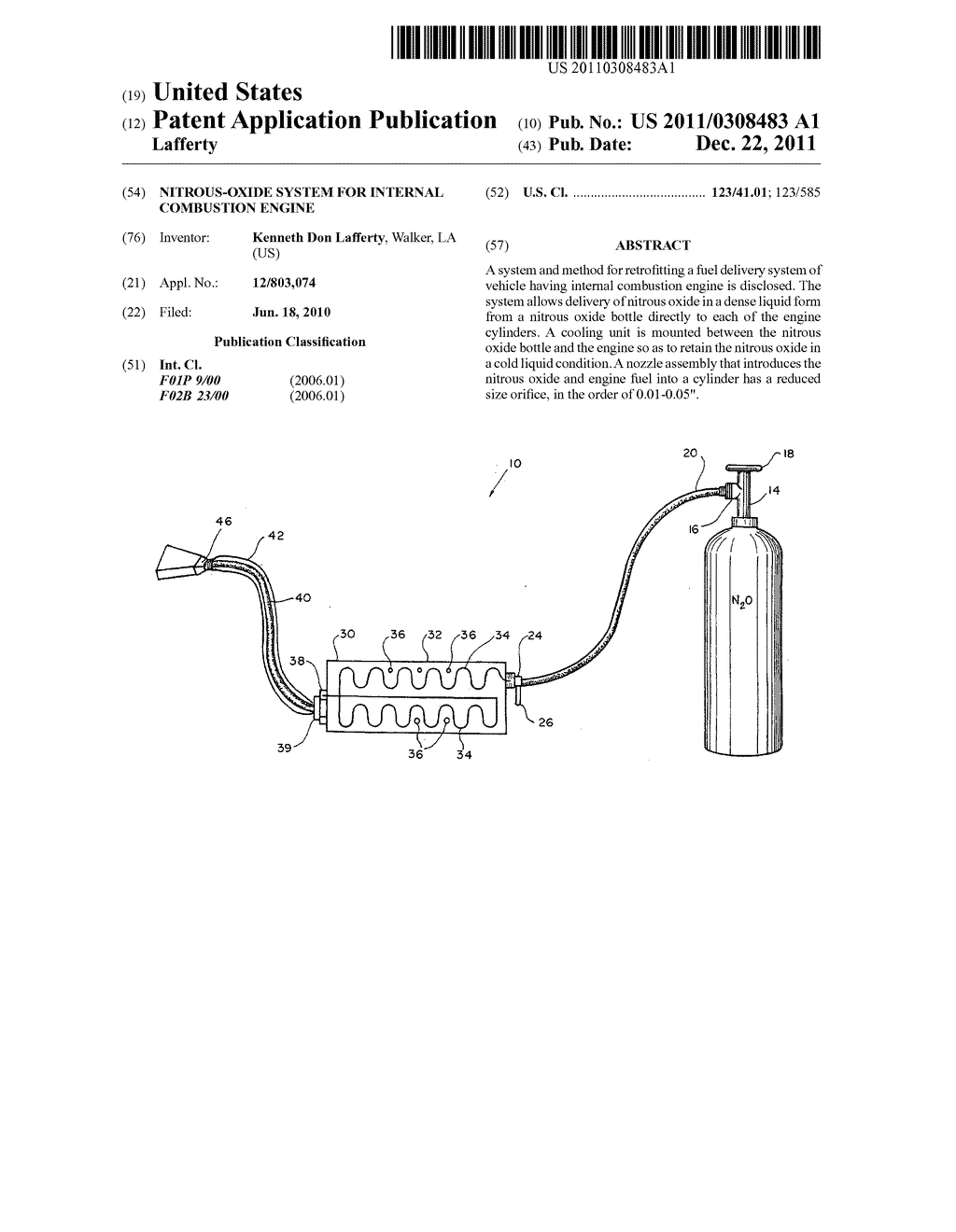 Nitrous Oxide System For Internal Combustion Engine Diagram Schematic And Image 01