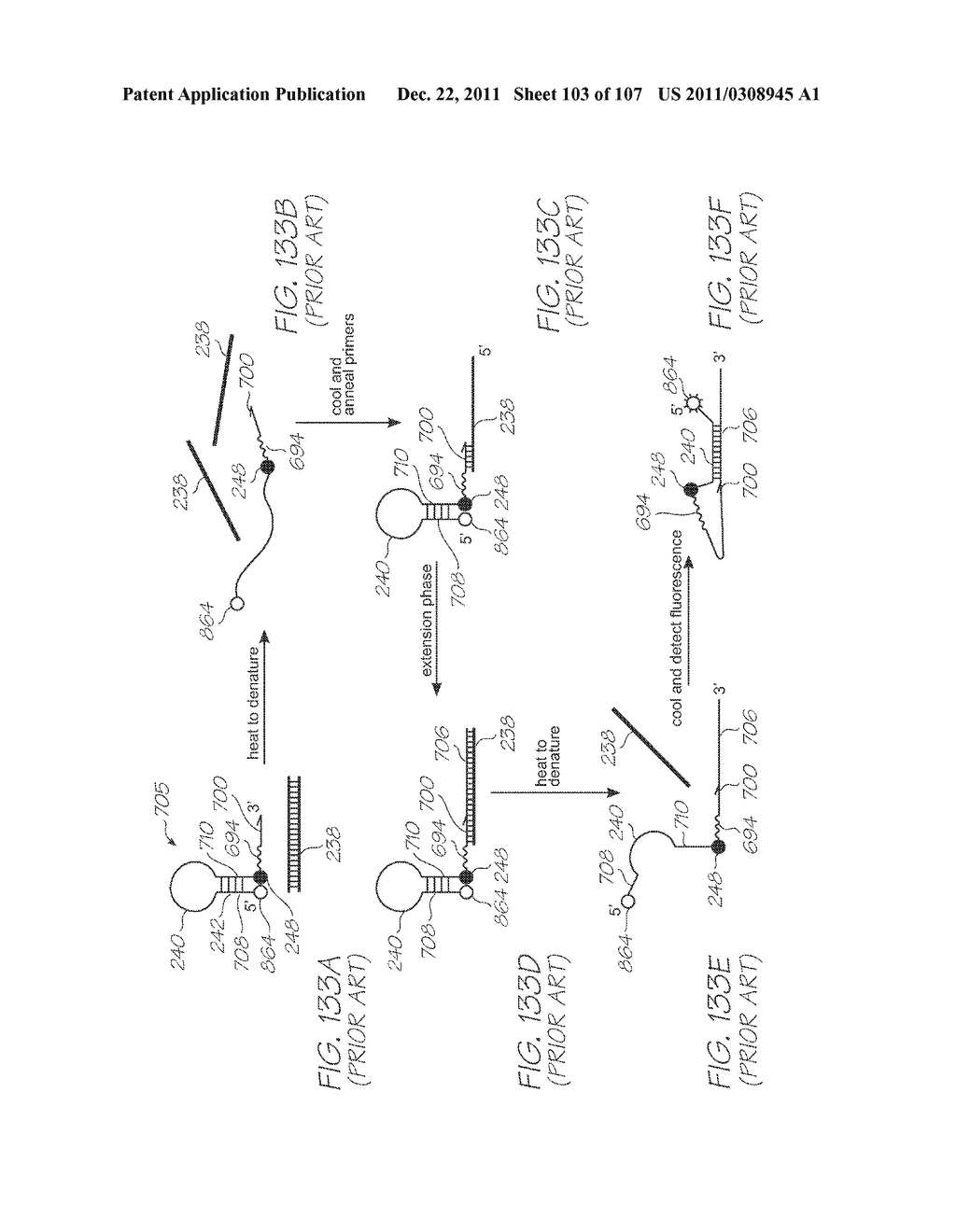 GENETIC ANALYSIS LOC DEVICE WITH THICK ELECTRODES FOR     ELECTROCHEMILUMINESCENT DETECTION OF TARGET SEQUENCES - diagram, schematic, and image 104
