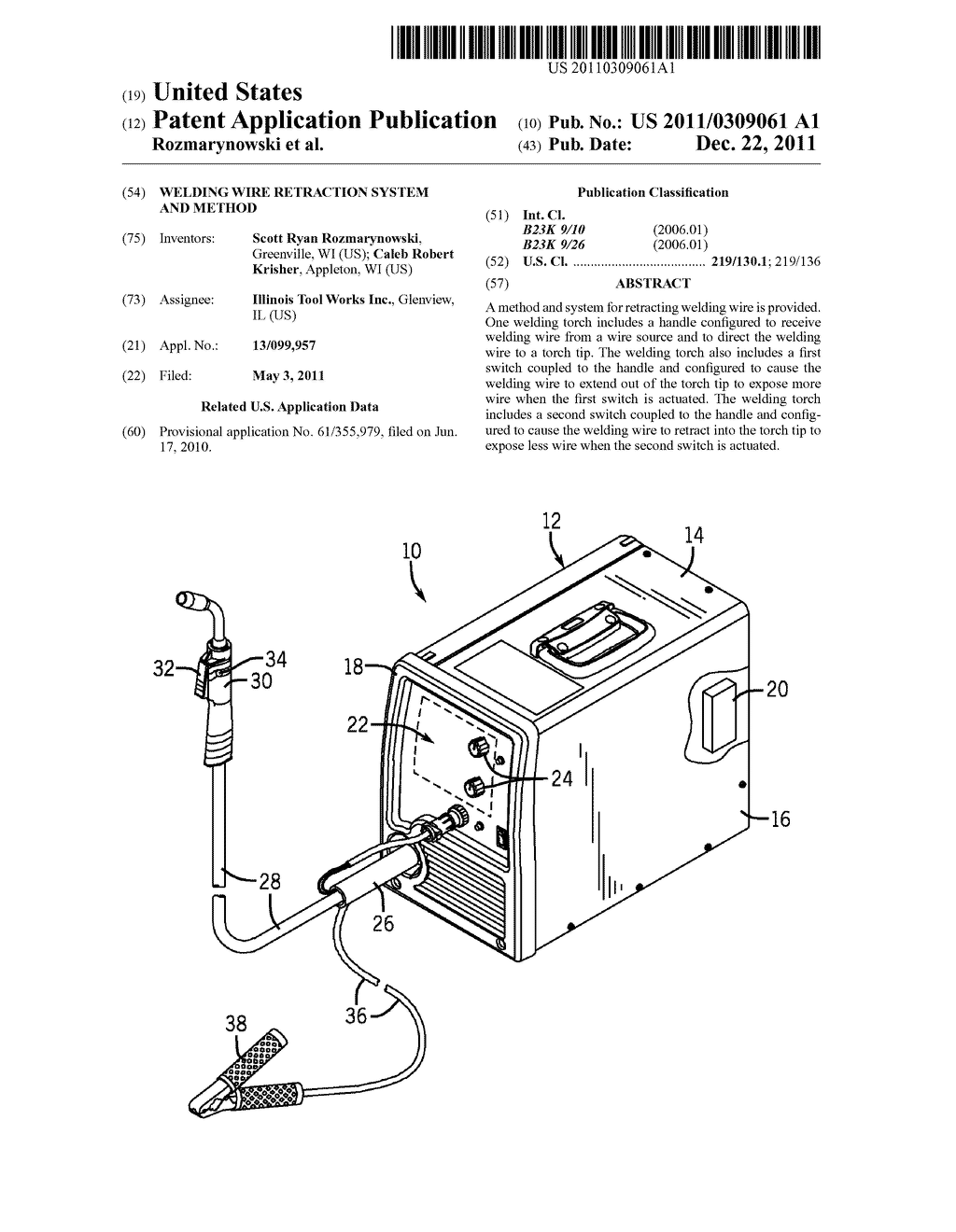 WELDING WIRE RETRACTION SYSTEM AND METHOD - diagram, schematic, and image 01