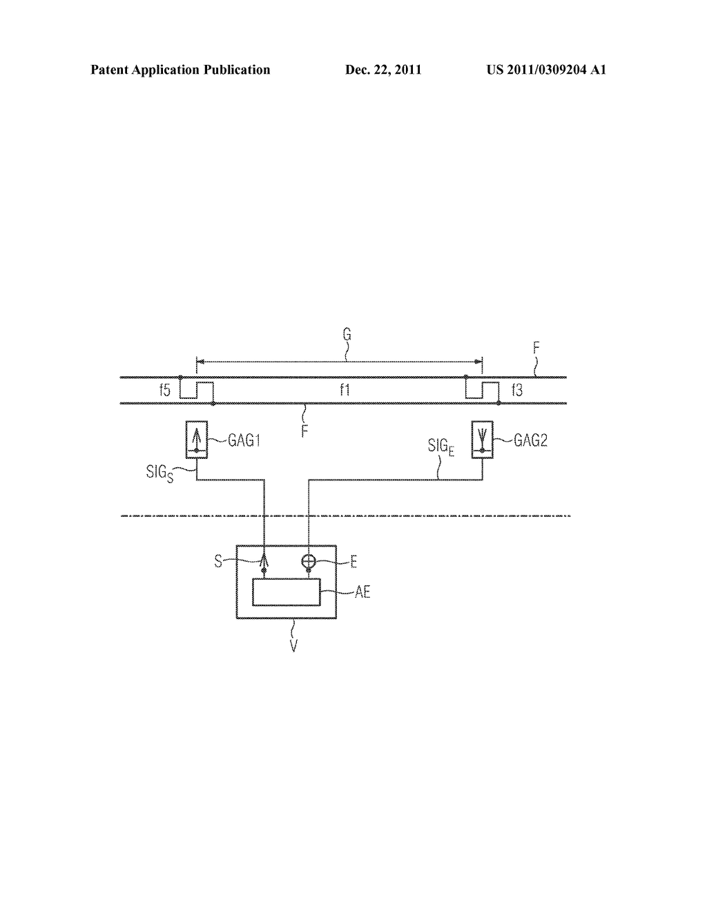 DEVICE FOR DETECTING THE OCCUPIED STATE AND THE FREE STATE OF A TRACK     SECTION AS WELL AS METHOD FOR OPERATING SUCH A DEVICE - diagram, schematic, and image 02