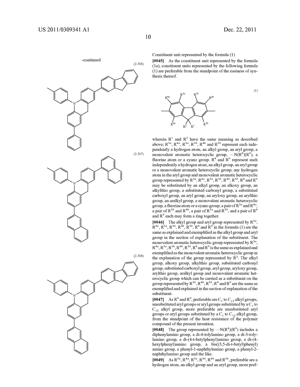 AMINE POLYMER COMPOUND AND LIGHT EMITTING DEVICE USING THE SAME - diagram, schematic, and image 11