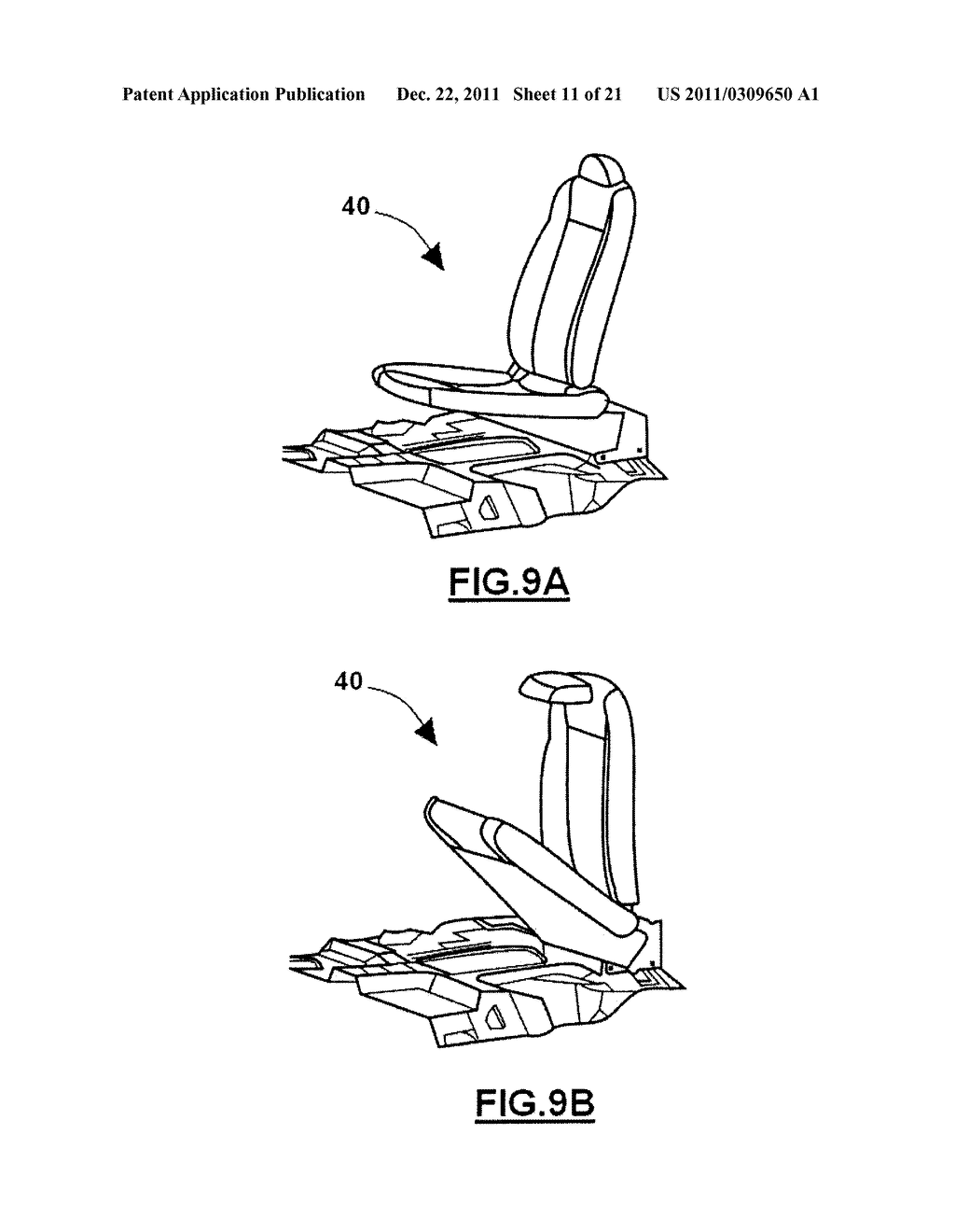 COLLAPSIBLE SEAT - diagram, schematic, and image 12