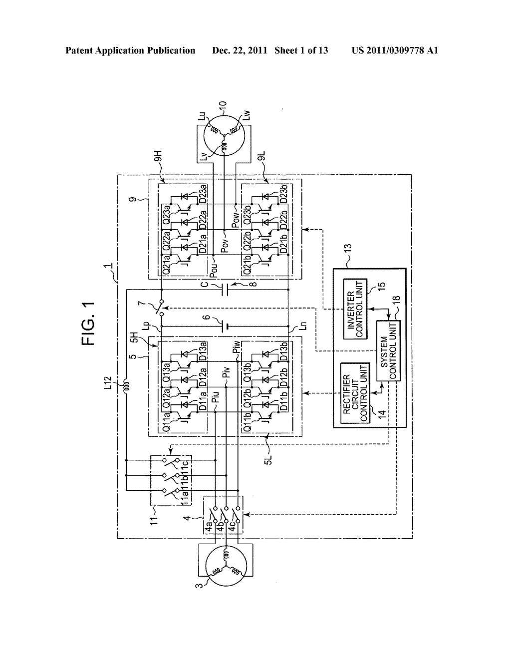 Power converting device with reduced switching loss - diagram, schematic, and image 02