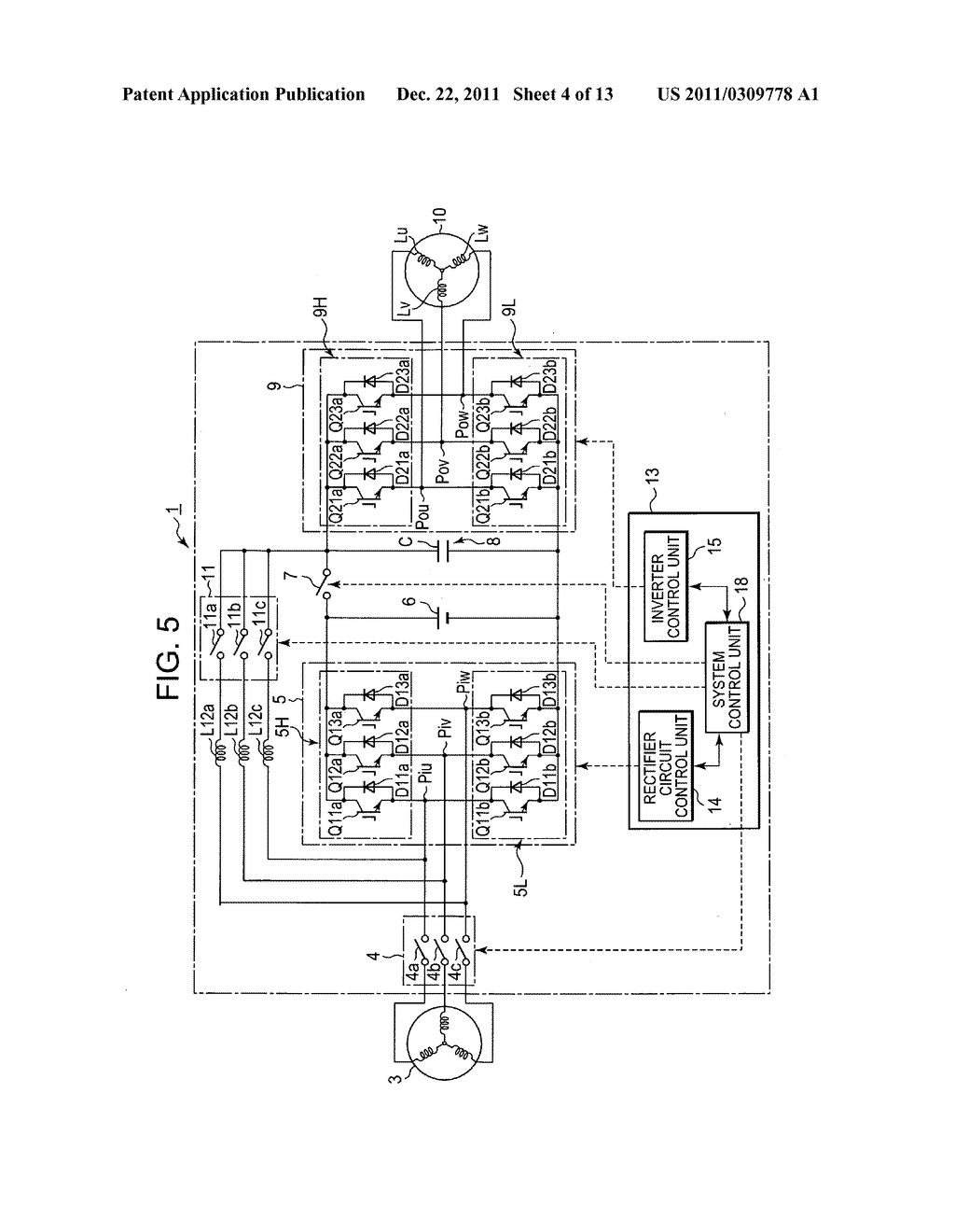 Power converting device with reduced switching loss - diagram, schematic, and image 05