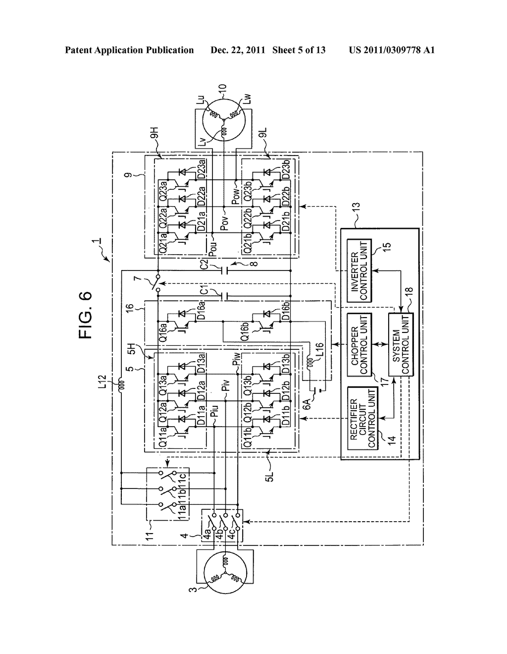 Power converting device with reduced switching loss - diagram, schematic, and image 06