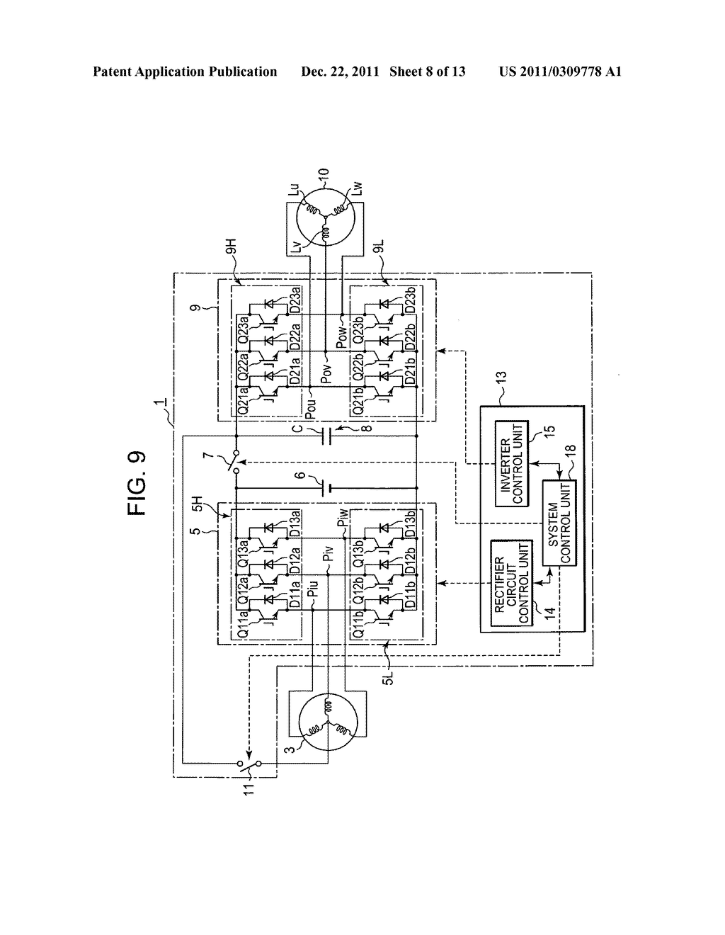 Power converting device with reduced switching loss - diagram, schematic, and image 09