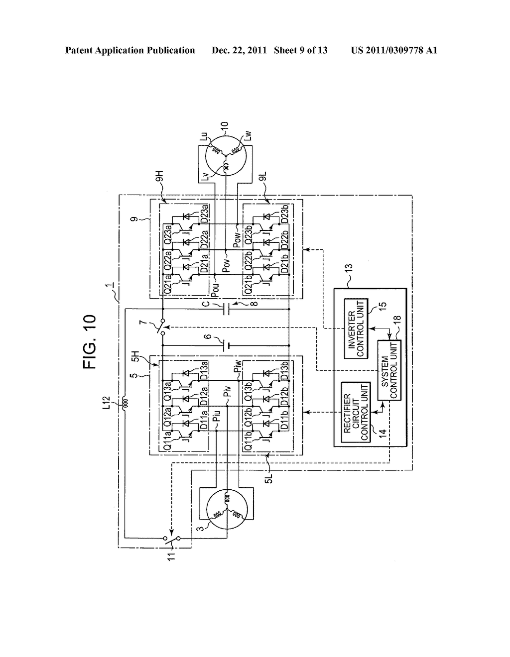 Power converting device with reduced switching loss - diagram, schematic, and image 10