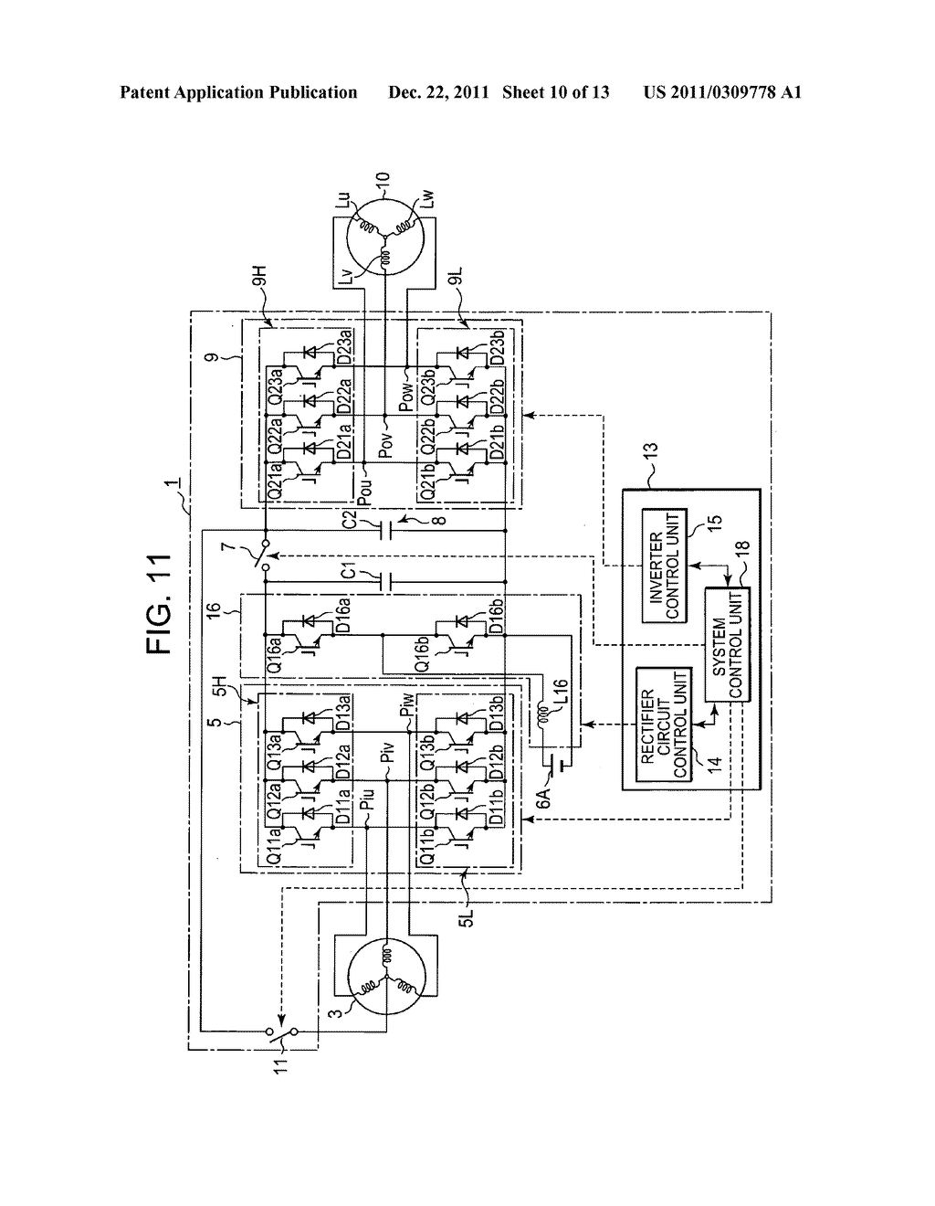 Power converting device with reduced switching loss - diagram, schematic, and image 11