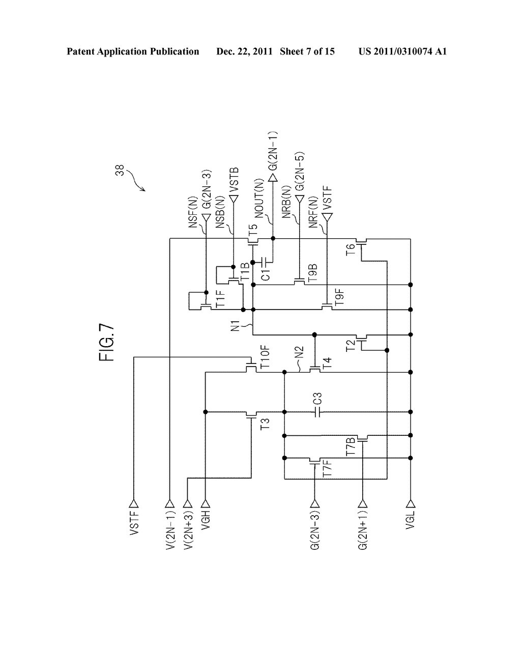 BIDIRECTIONAL SHIFT REGISTER AND IMAGE DISPLAY DEVICE USING THE SAME - diagram, schematic, and image 08