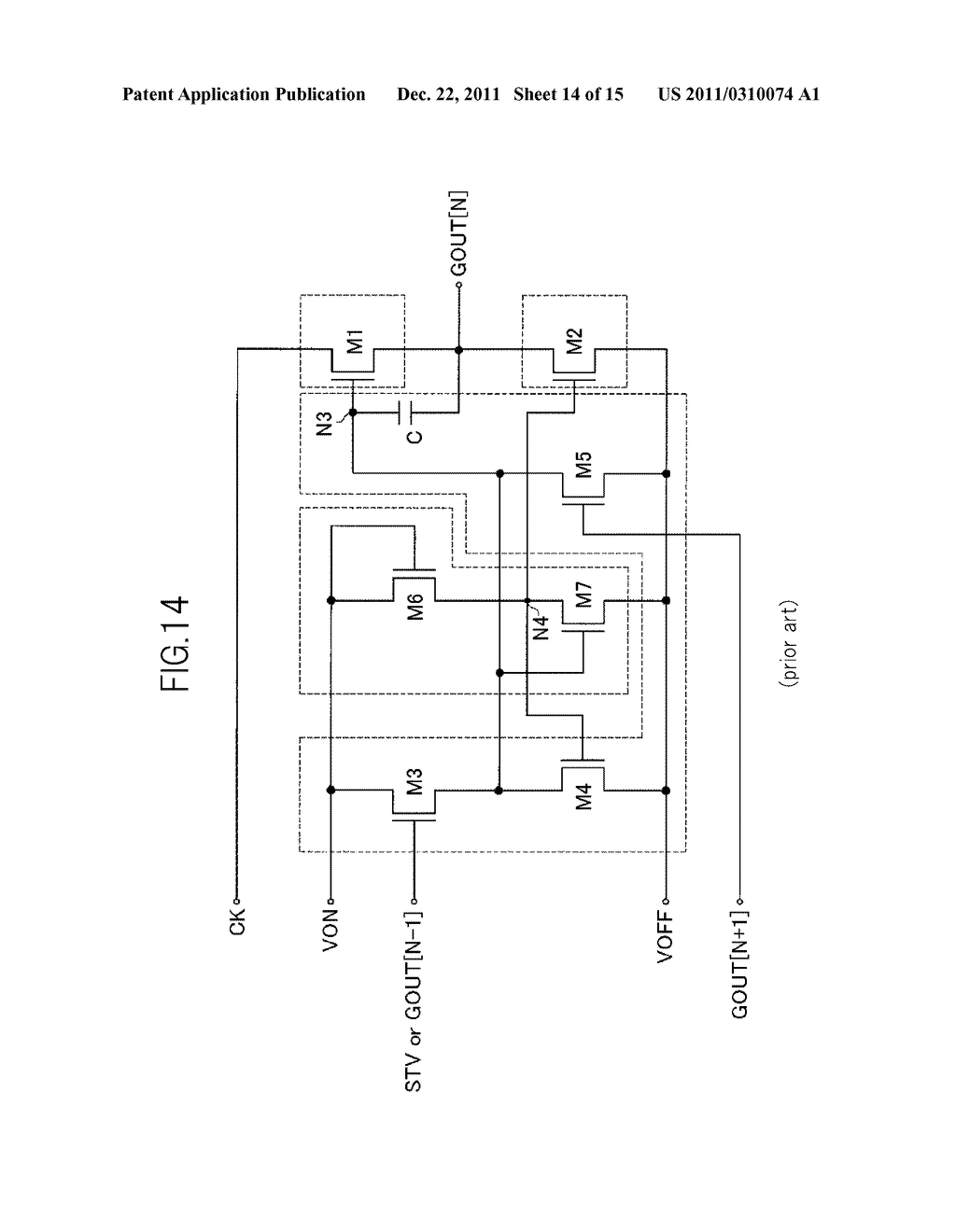 BIDIRECTIONAL SHIFT REGISTER AND IMAGE DISPLAY DEVICE USING THE SAME - diagram, schematic, and image 15