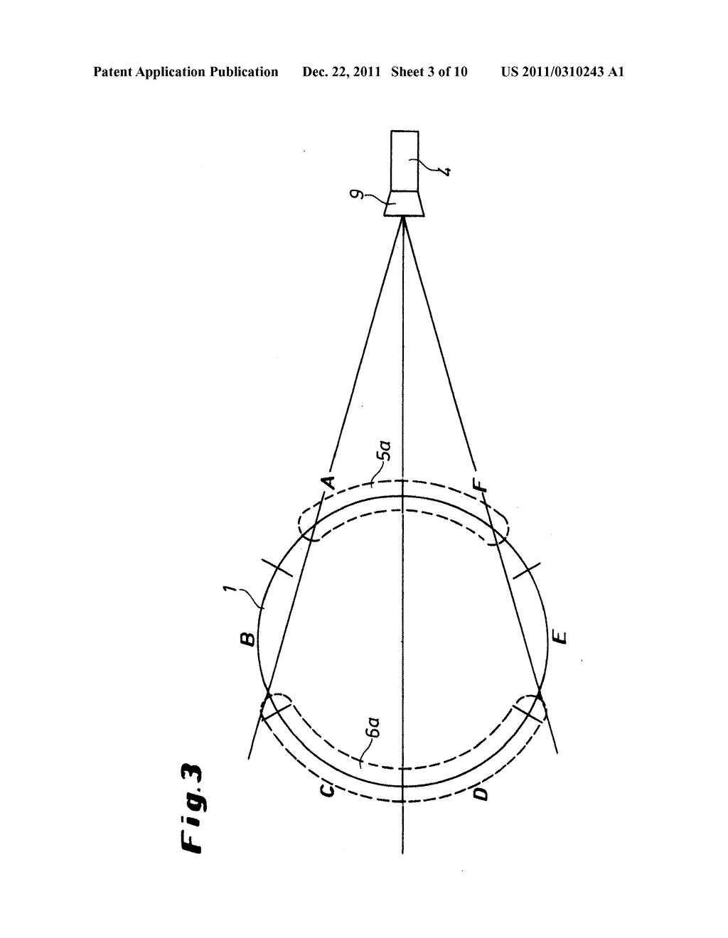Method and Device for the Quality Assurance of at Least Partially     Translucent Hollow Bodies - diagram, schematic, and image 04