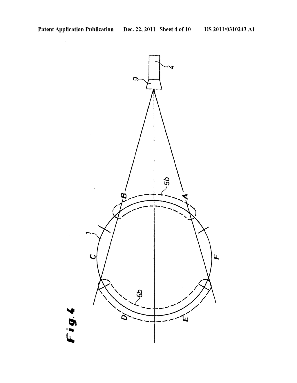 Method and Device for the Quality Assurance of at Least Partially     Translucent Hollow Bodies - diagram, schematic, and image 05