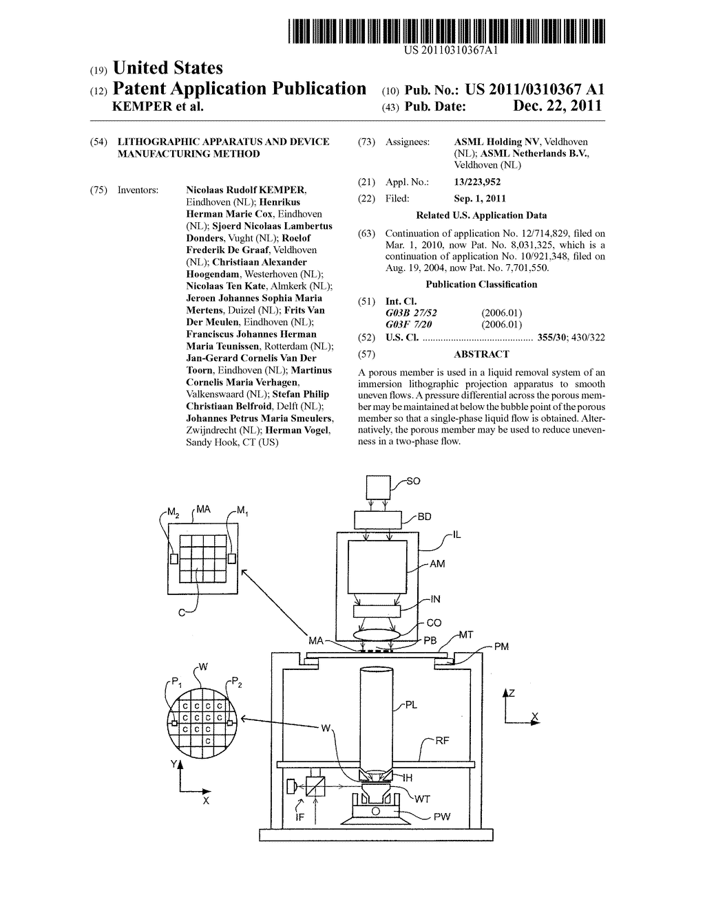 LITHOGRAPHIC APPARATUS AND DEVICE MANUFACTURING METHOD - diagram, schematic, and image 01